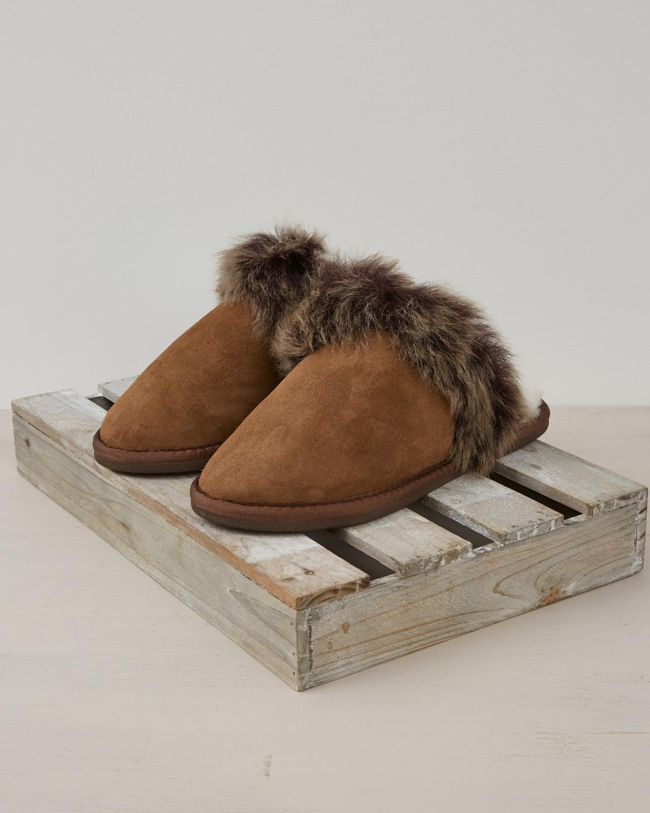 Toscana Mule Slippers - Size 6 -  Khaki - 2389