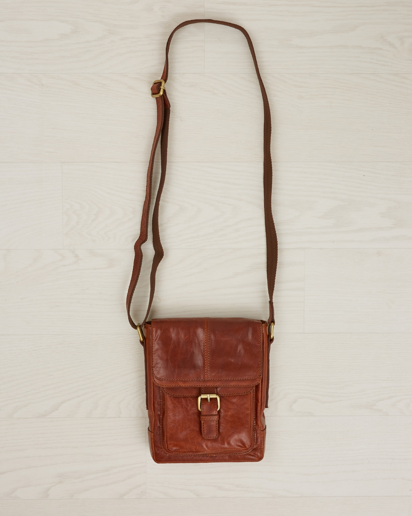 Leather Buckle Detail Shoulder Bag - One/Size - Autumn brown - 2391