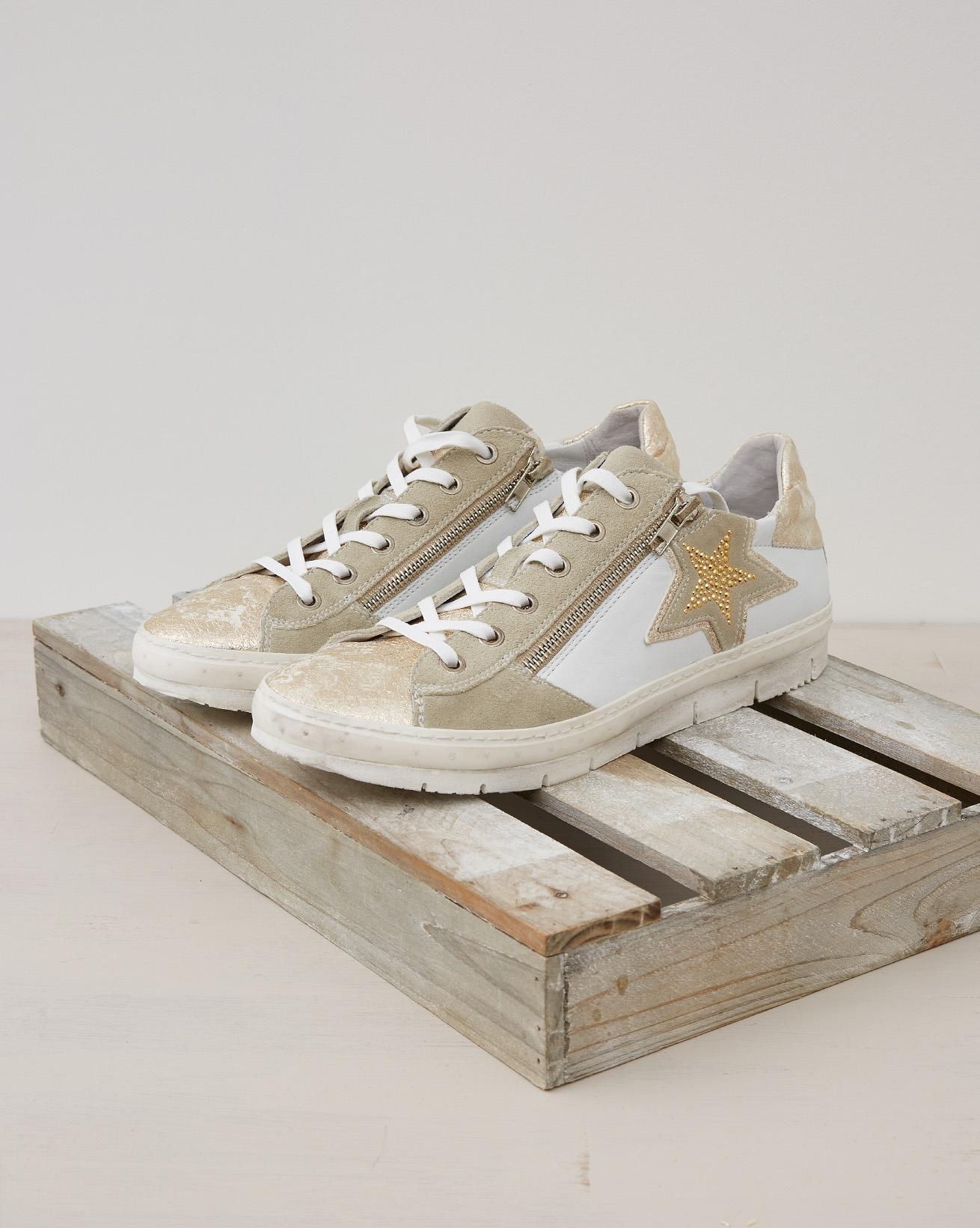 Embellished Trainer - Gold, Grey - Size 39 - 2490