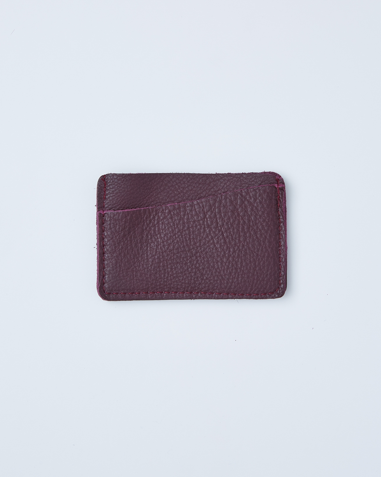 Leather Card Wallet - One/Size - Damson - 2410