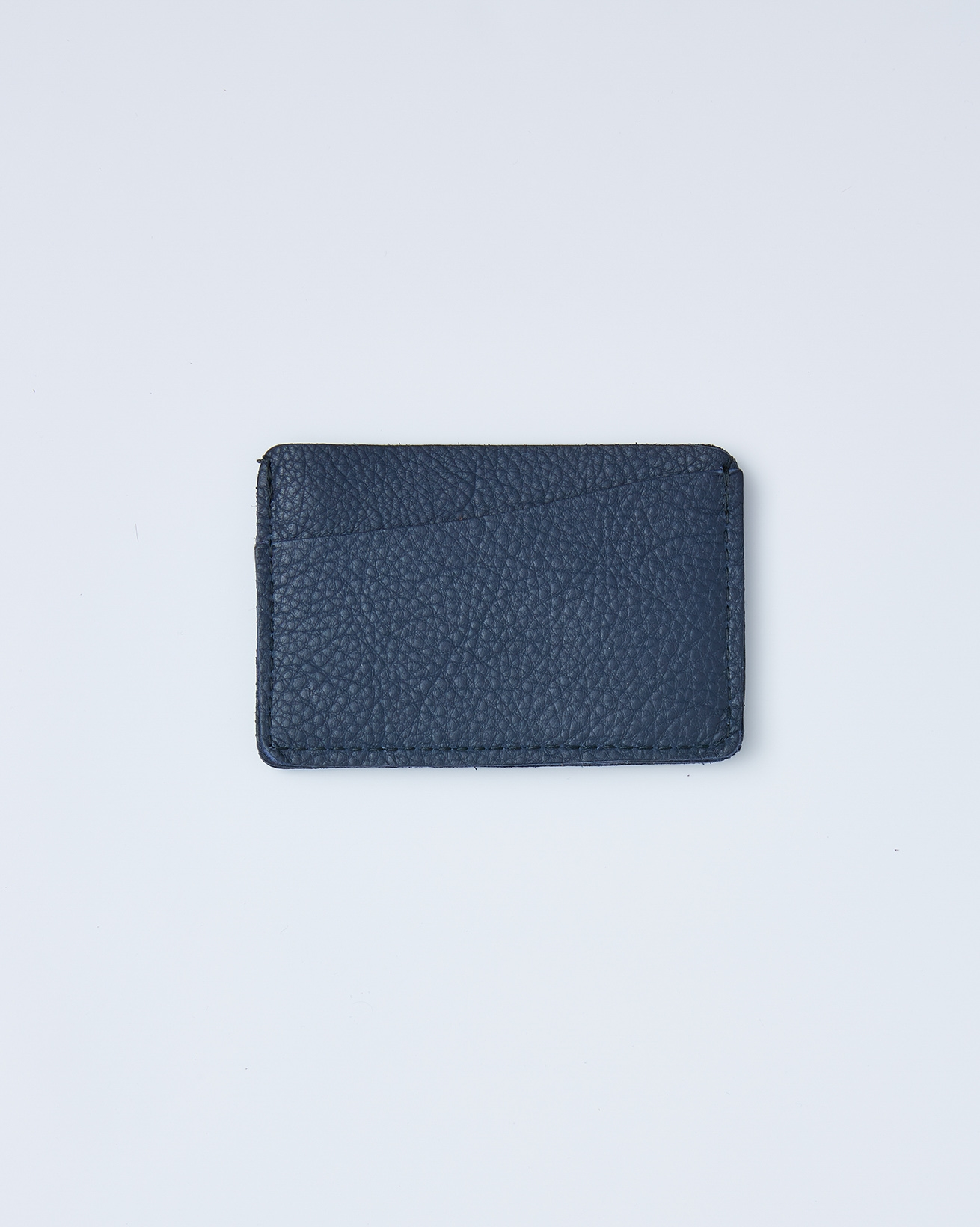 Leather Card Wallet - One/Size - Dark Navy - 2414
