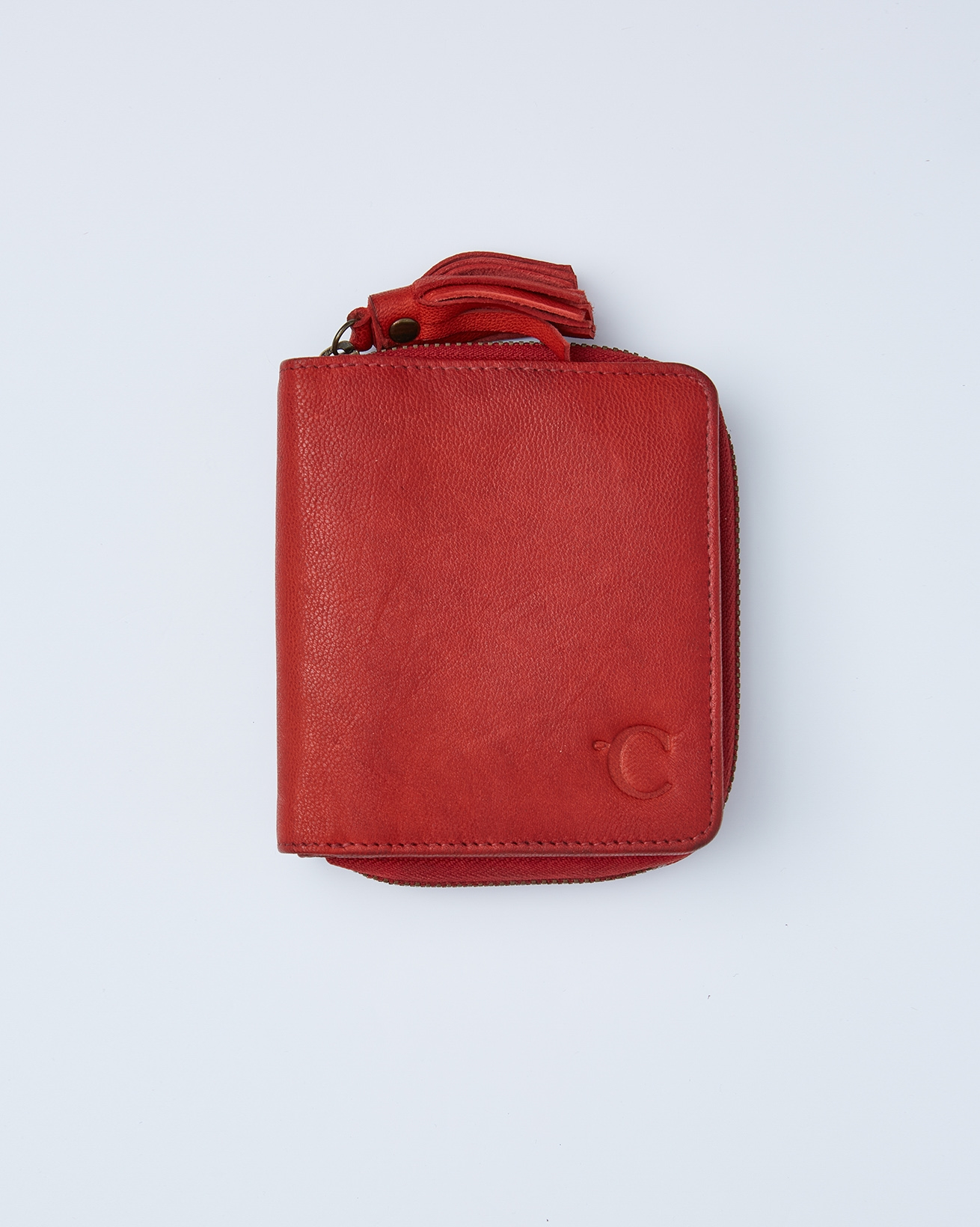 Veg Tan Lather Square Purse - One/Size - Red - 2416
