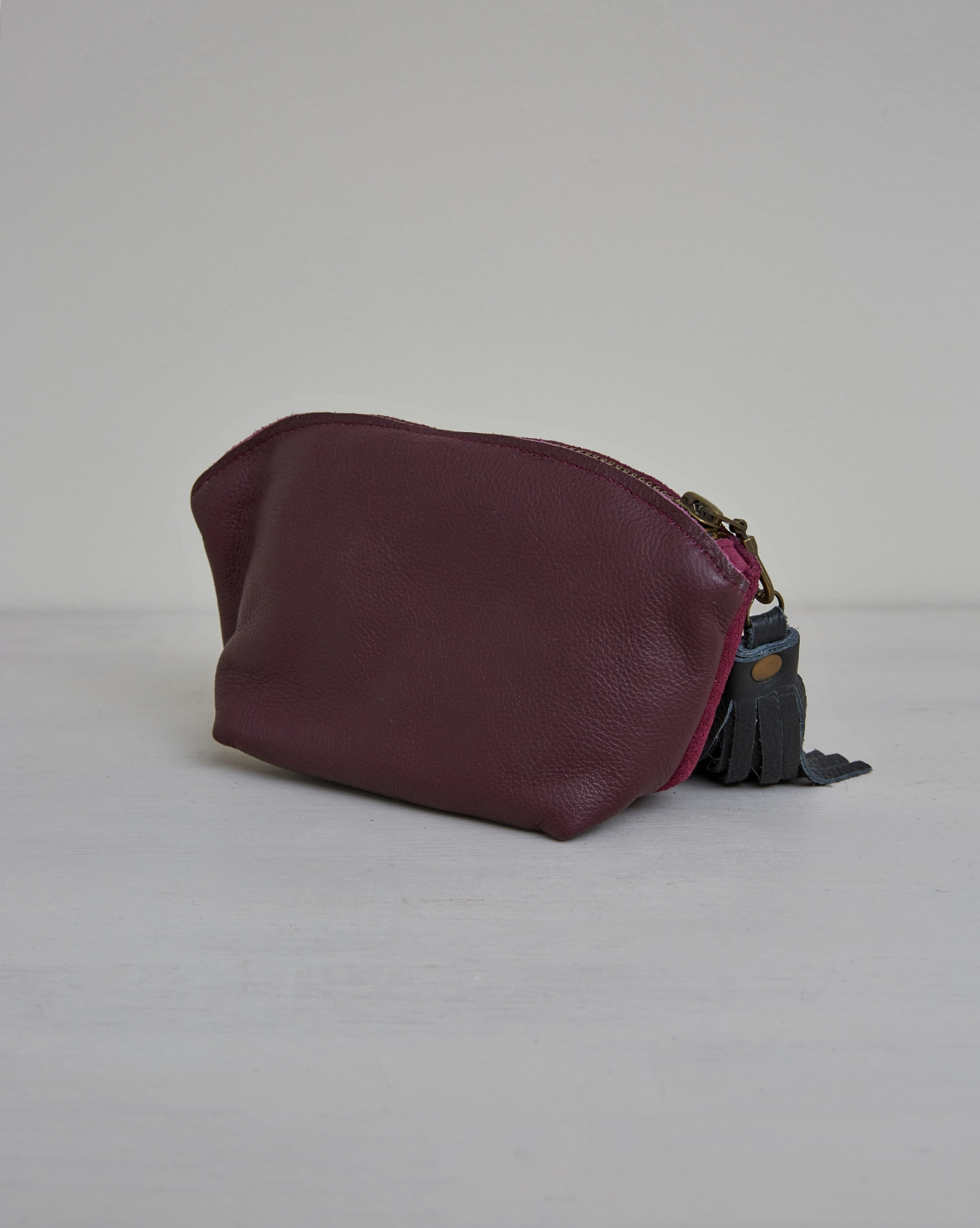 Cosmetics Pouch Bag Tidy - One/Size - Damson -2421