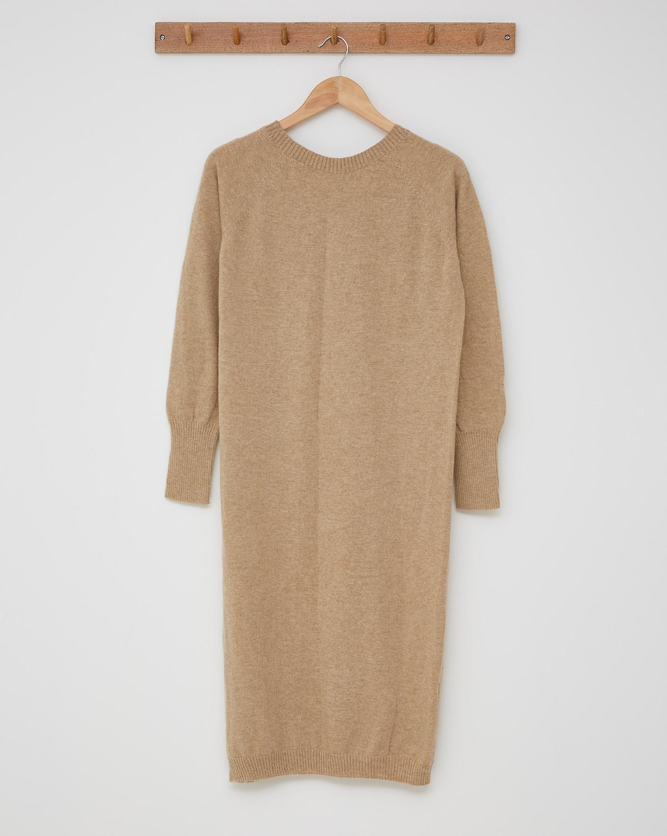 Supersoft Midi Dress - Size Small - Camel - 2469