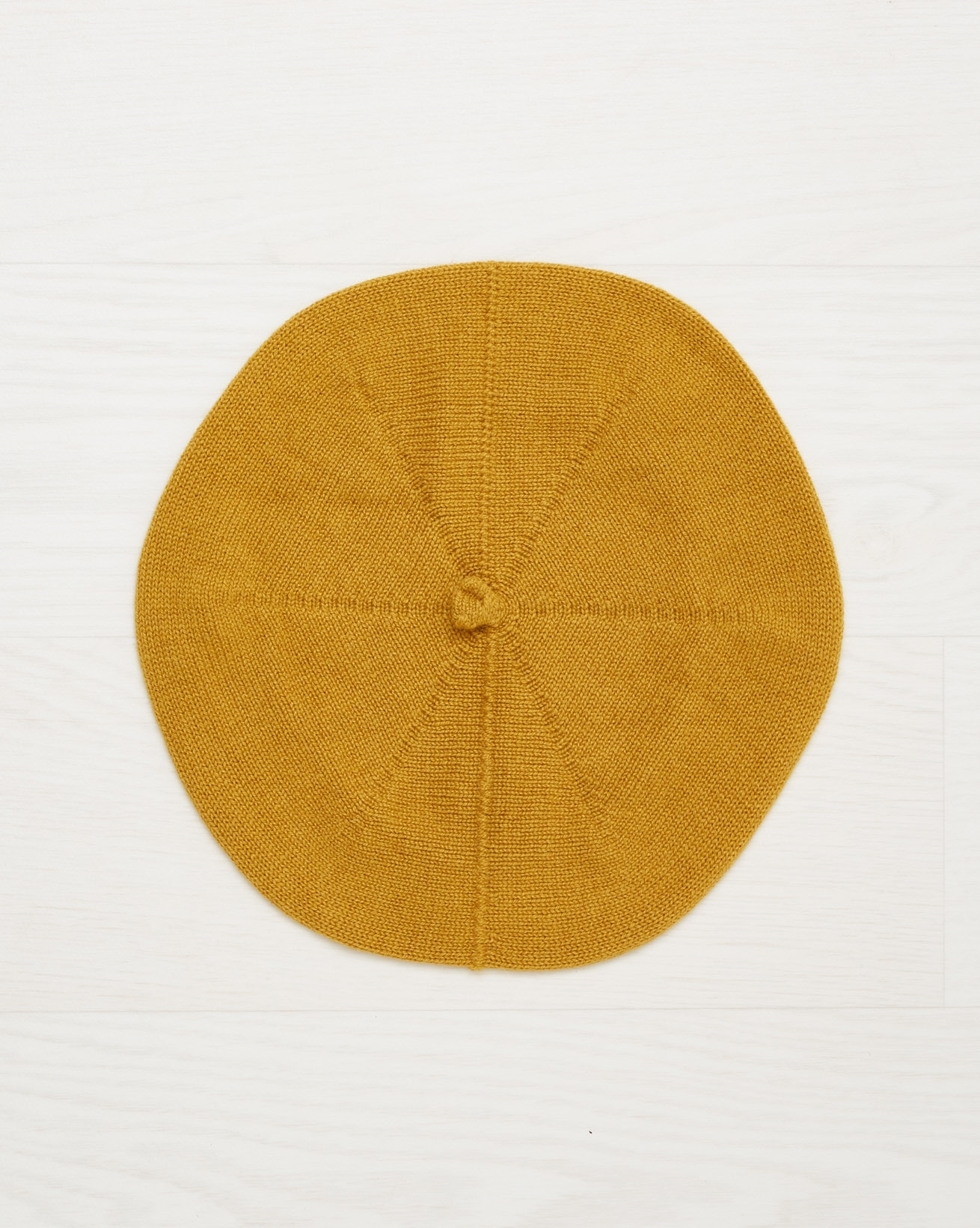 Cashmere Beret - Mustard - One Size - 2506