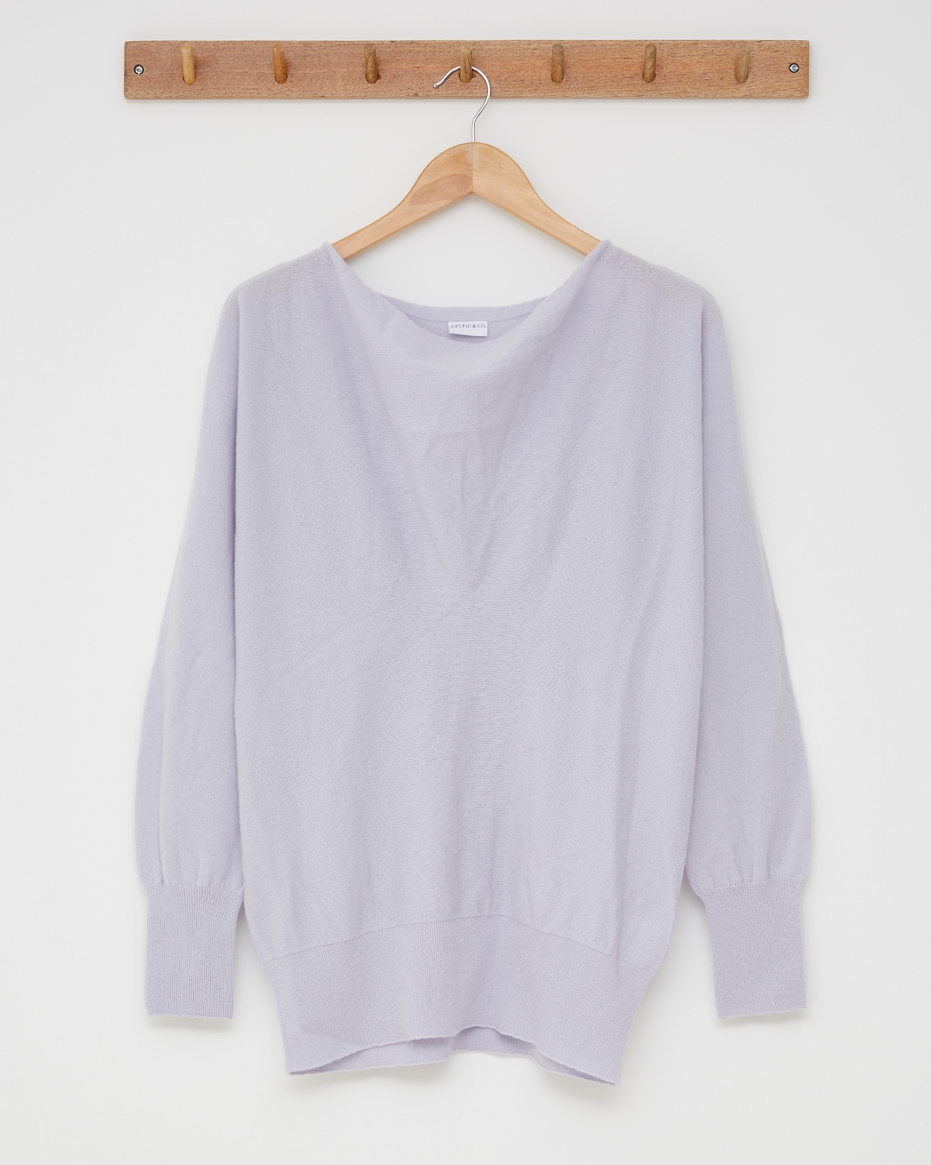 Soft cowl jumper - Size Small - Lilac - 2484