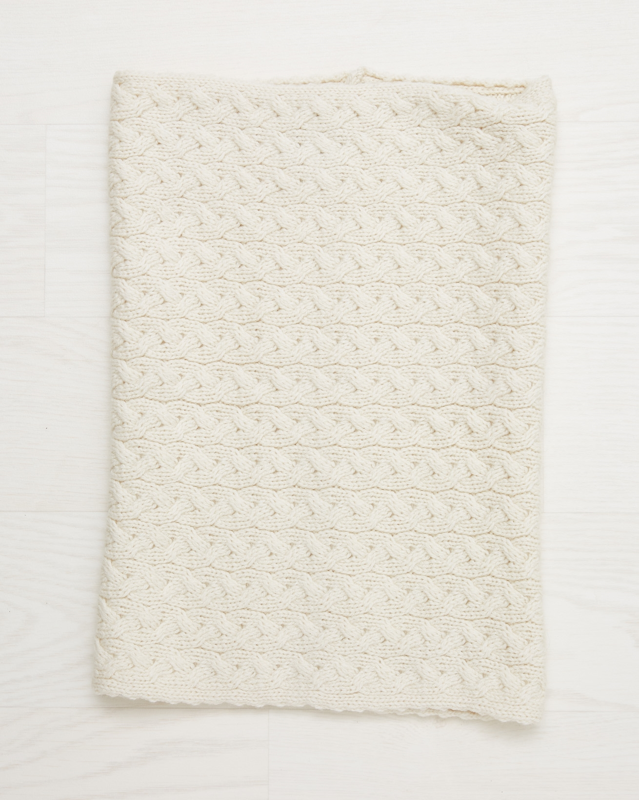 Aran Cable Snood  - Oatmeal - One Size - 2546