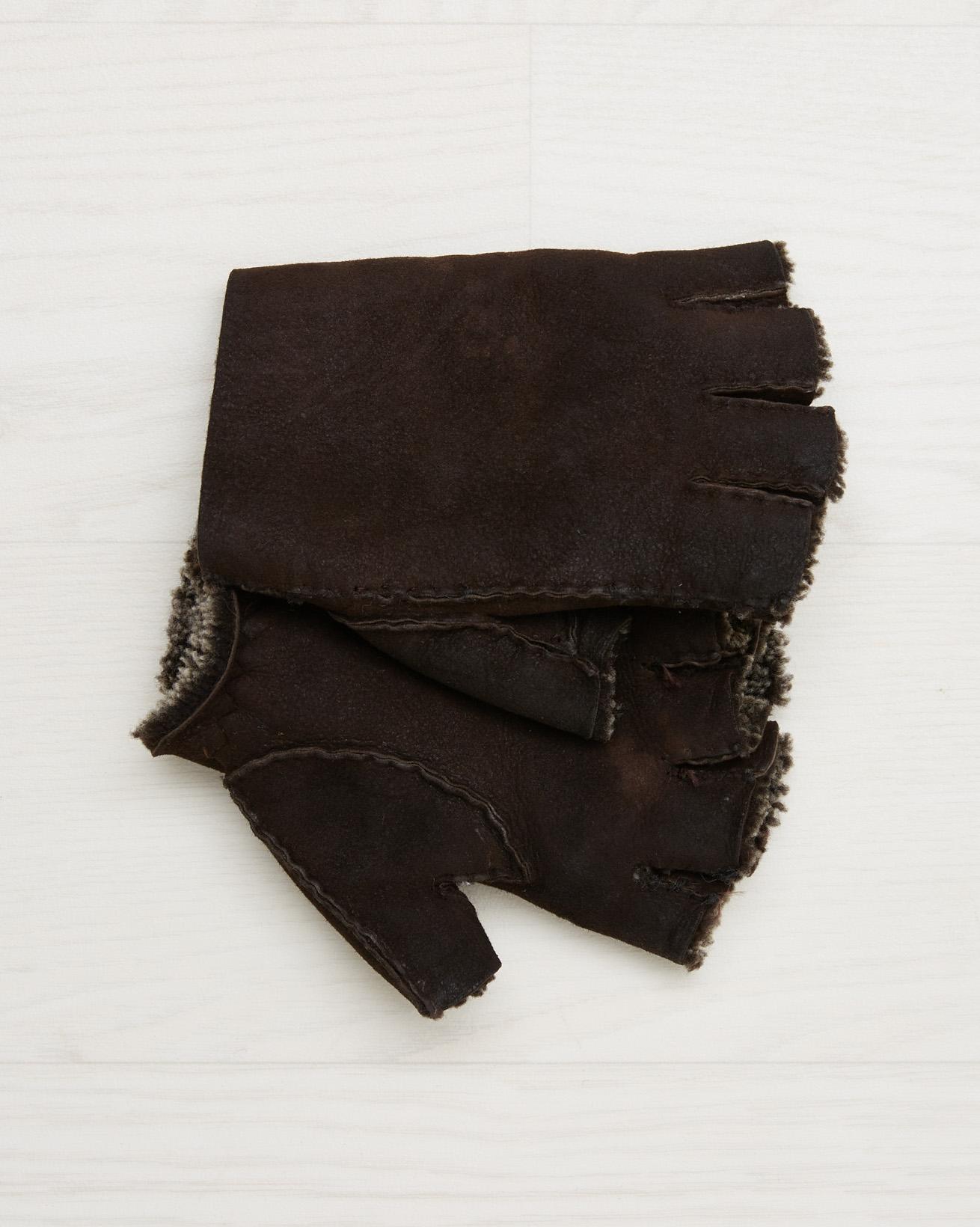 Sheepskin Gloves - Mocca - Size Extra Large - 2555