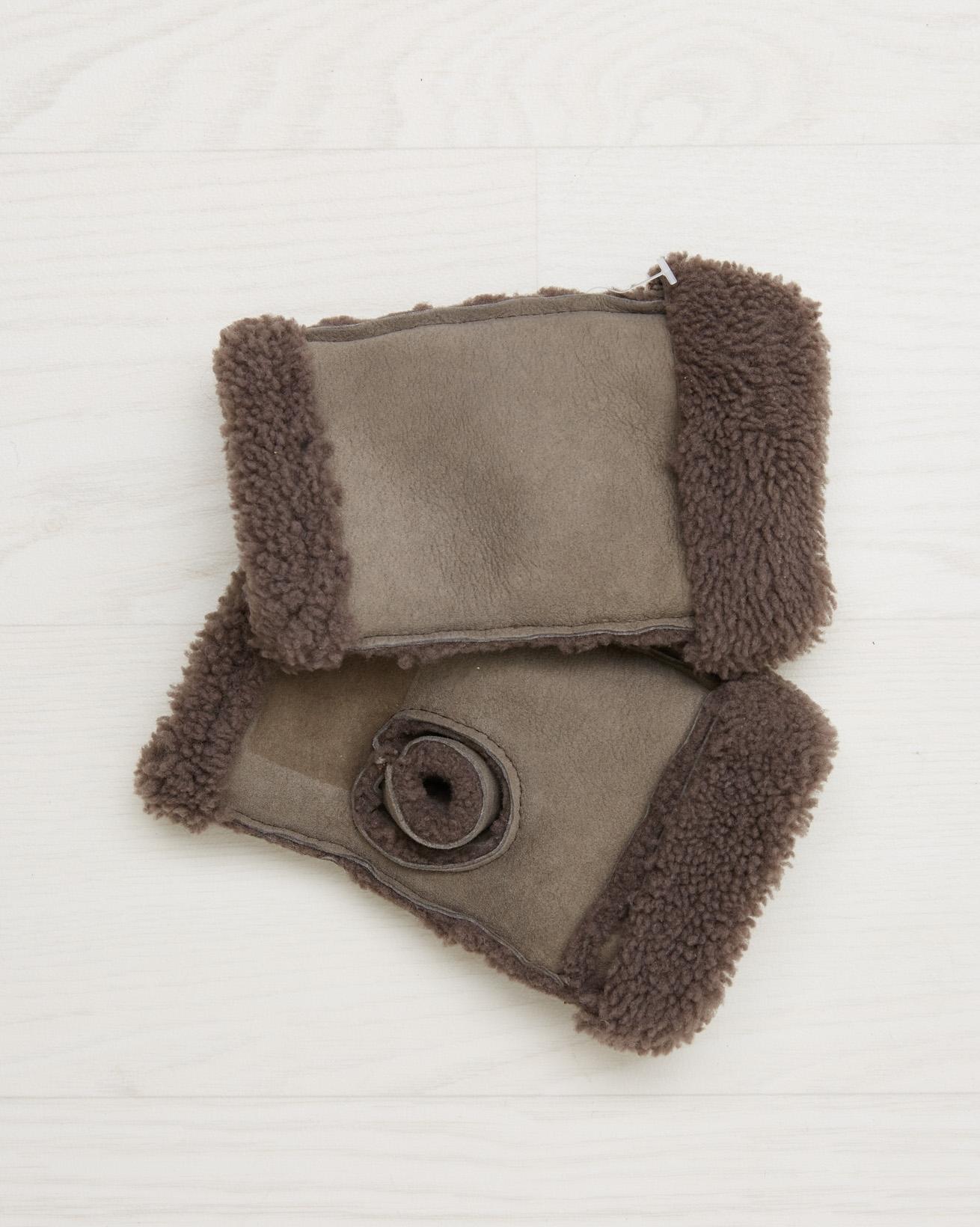 Sheepskin Wristwarmers - Vole - One Size - 2558