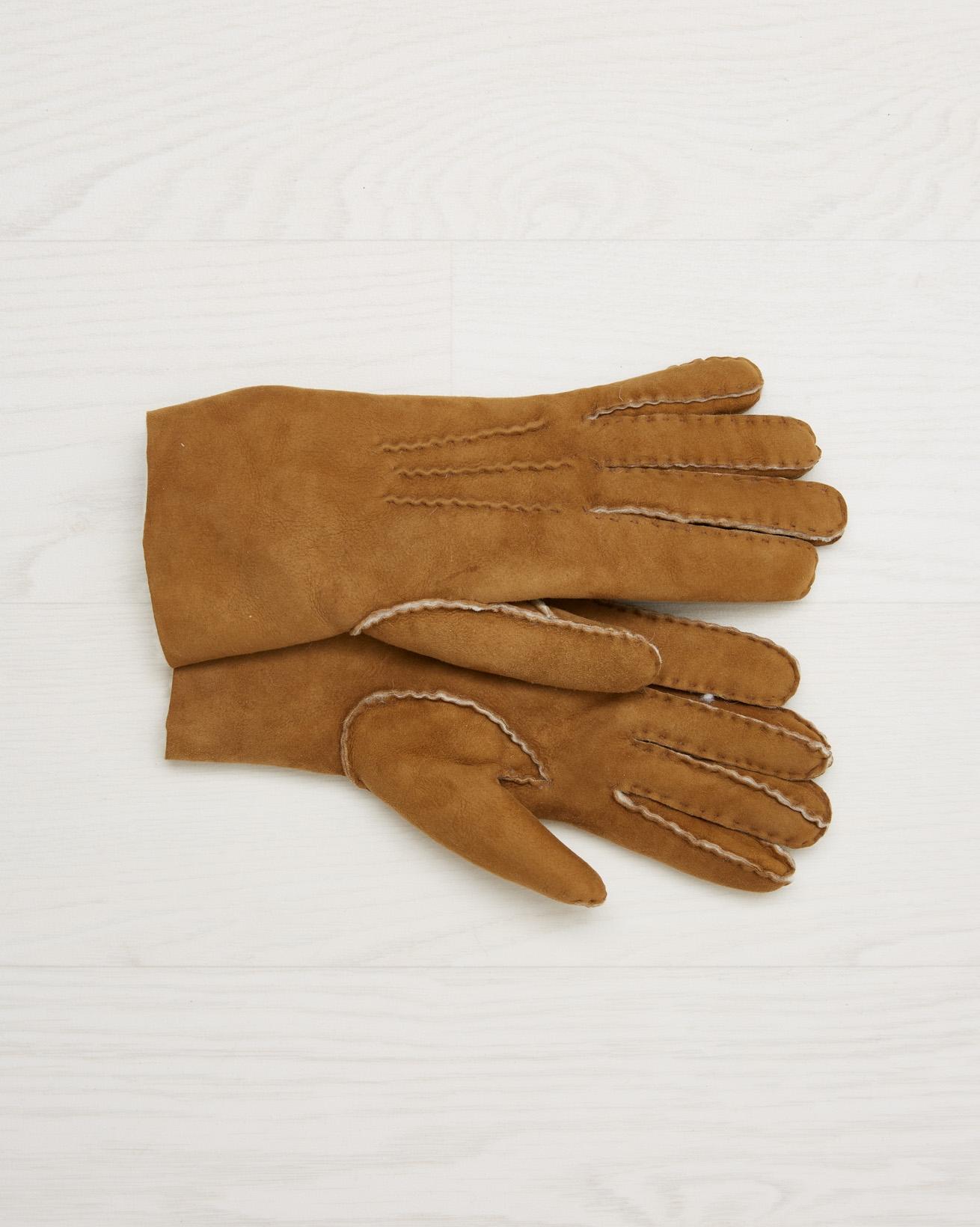 Sheepskin Gloves - Spice - Size Small - 2560