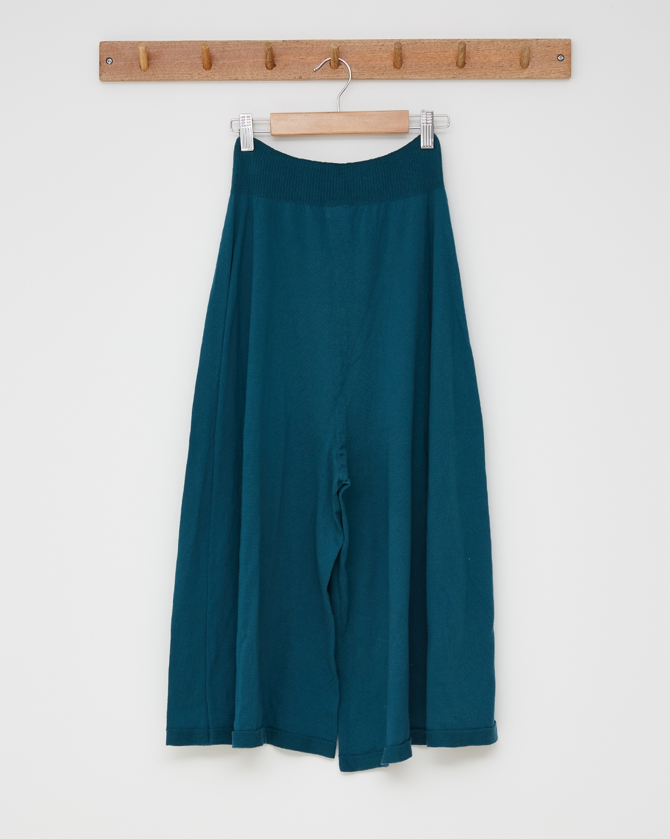 Organic cotton culottes - Size Small - Icelandic blue - 2591