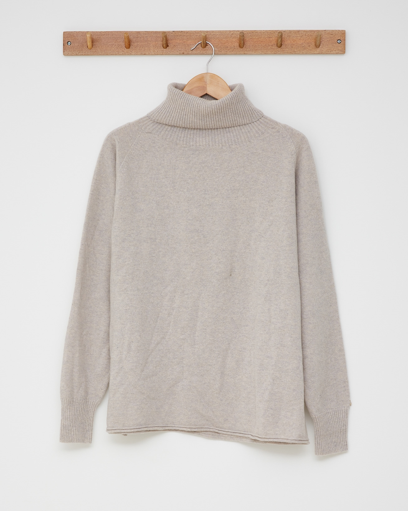 Geelong slouch roll neck - Size Medium -  Fossil - 2604