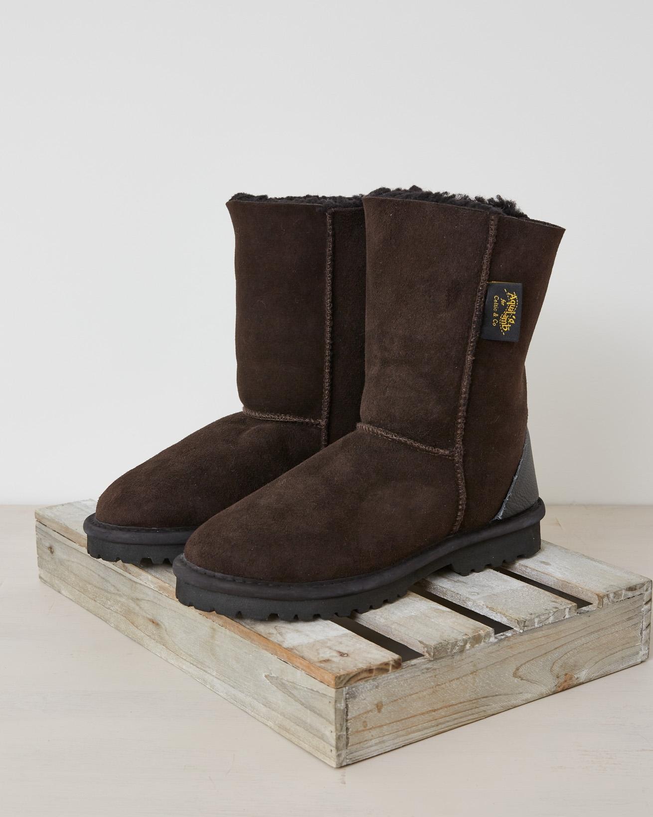 Aqualamb boots reg - Size 5 - Darkest brown - 2631