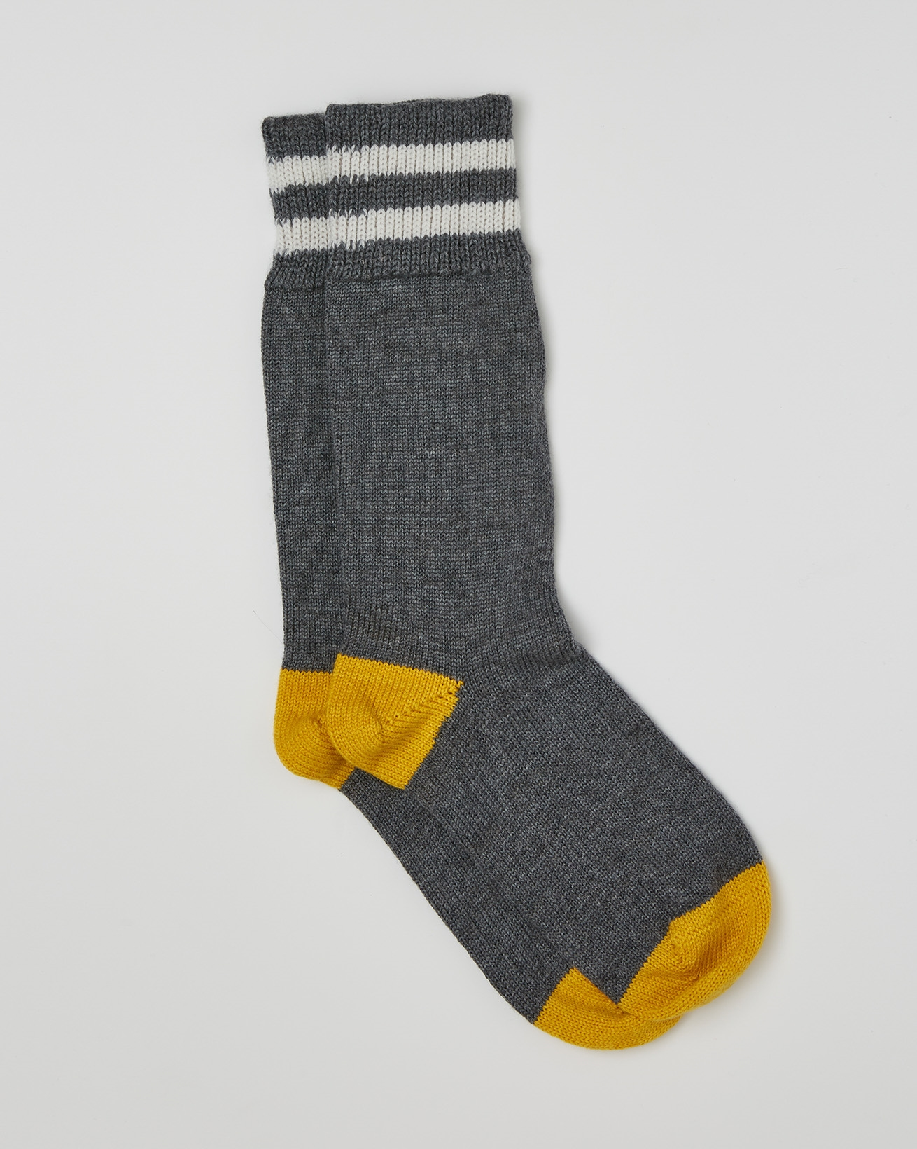 Ladies Merino Cotton Socks - Size Medium - Derby Grey, Gorse - 2464