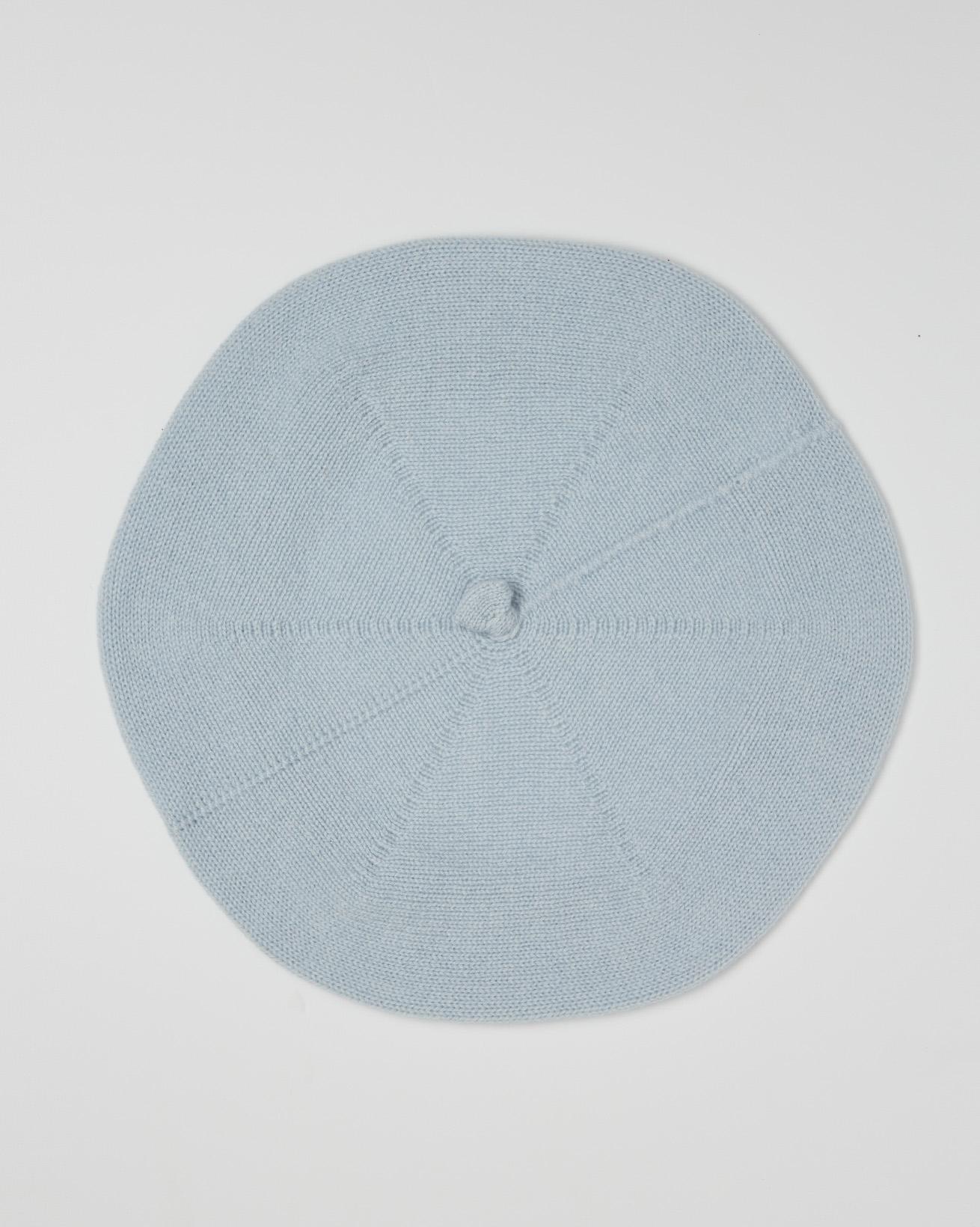 Cashmere Beret - Light Blue - One Size - 2618