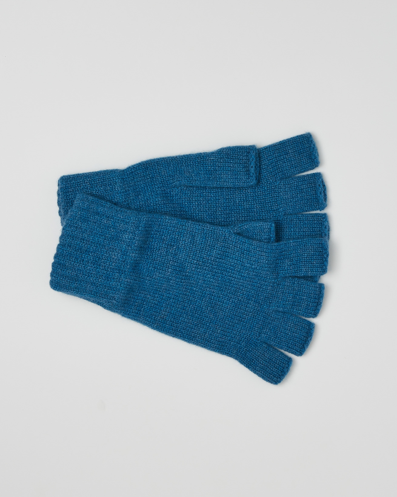 Cashmere Fingerless Gloves - One Size - Cobalt Blue - 2647