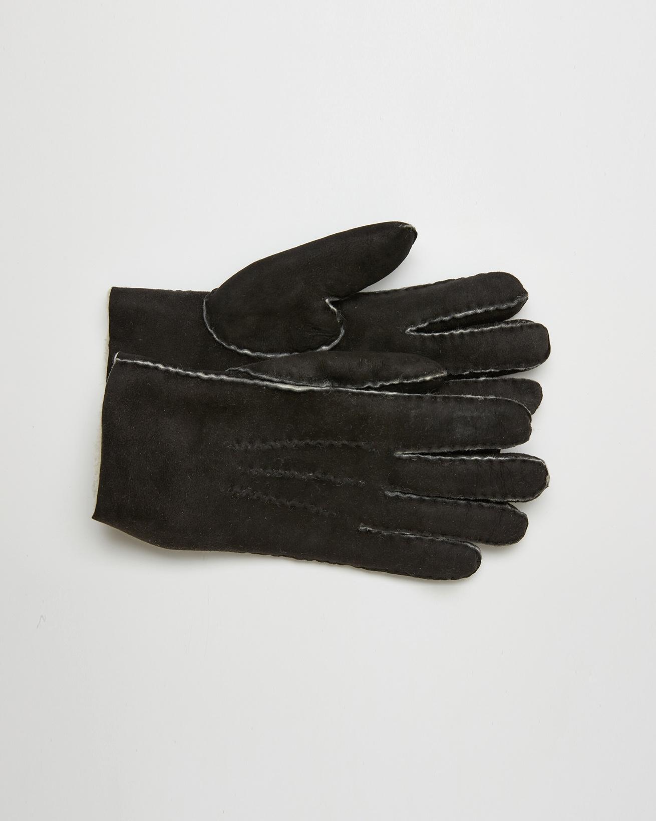 Sheepskin Gloves - Size Extra Large - Black - 2643