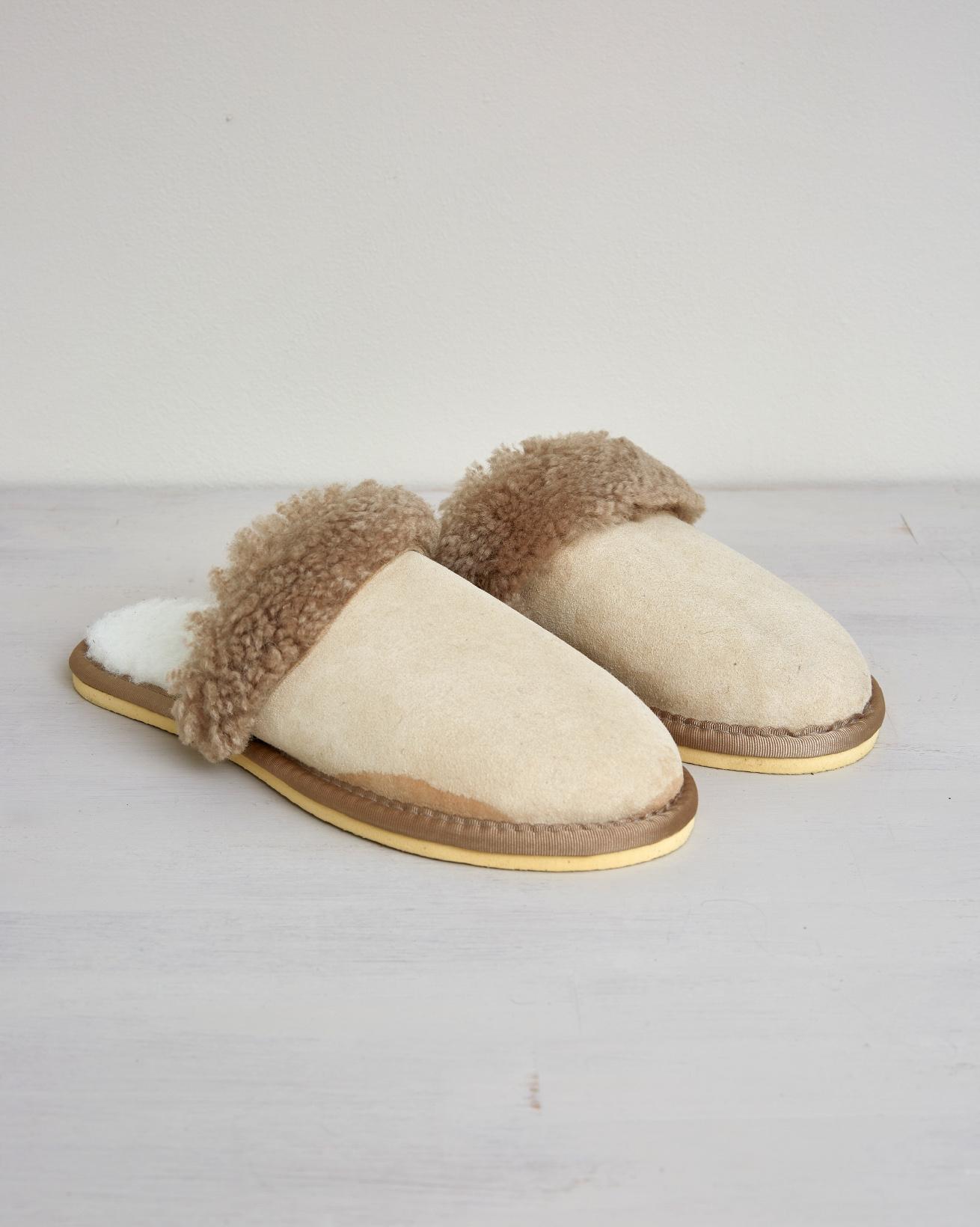 Ladies Turnback Mule - Size 5 - Oatmeal - 2646