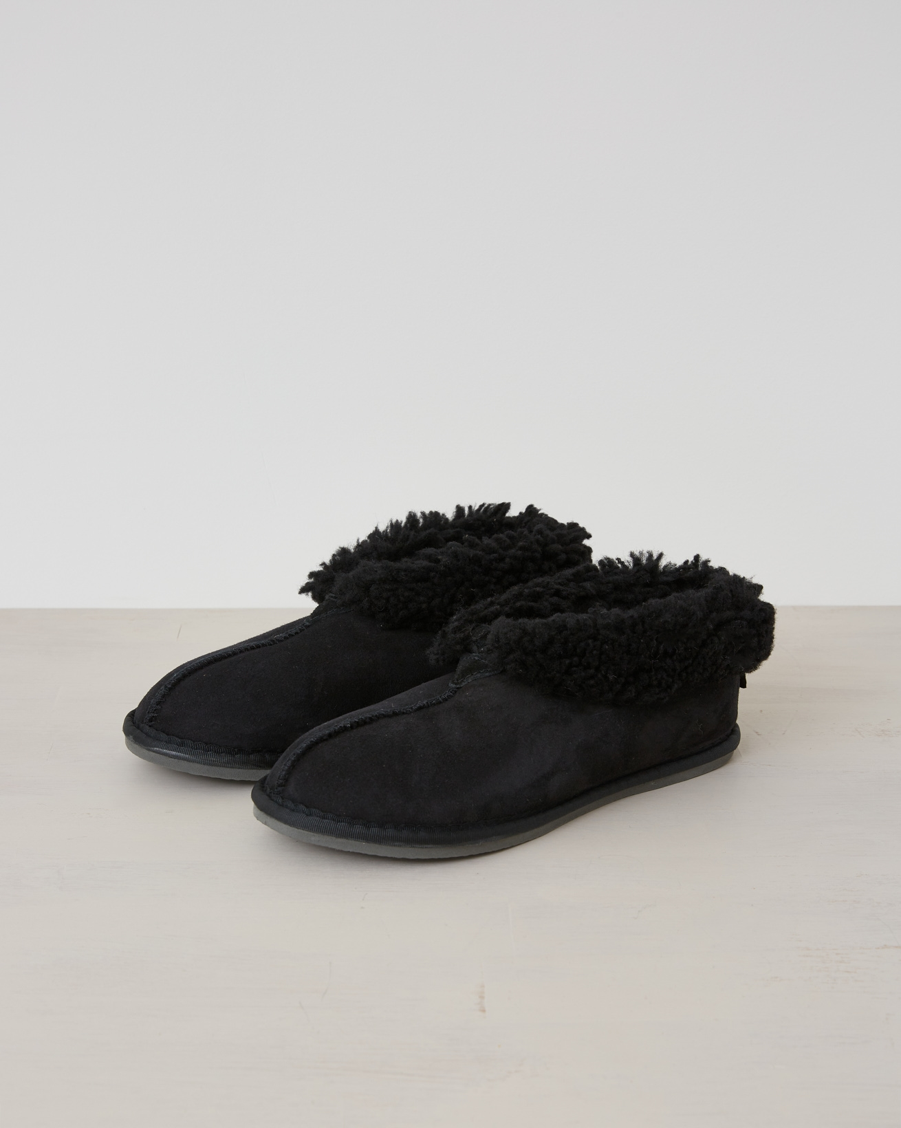 Mens Bootee Slipper - Black - Size 7 - 2540