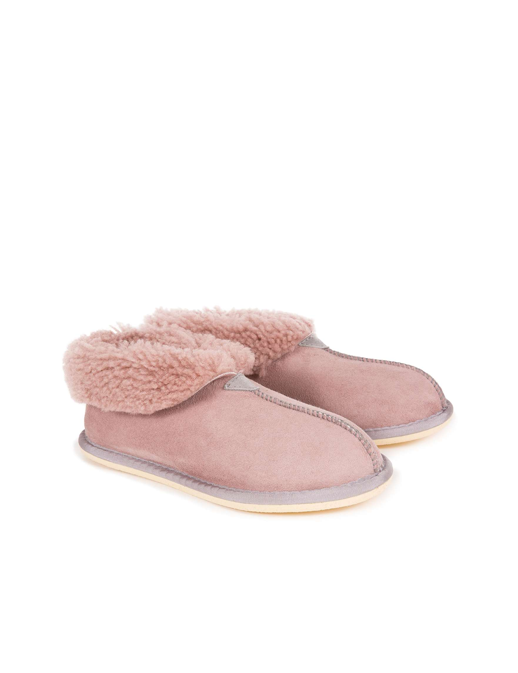 Ladies Bootee Slipper - Dusky Pink - Size 7 - 2505