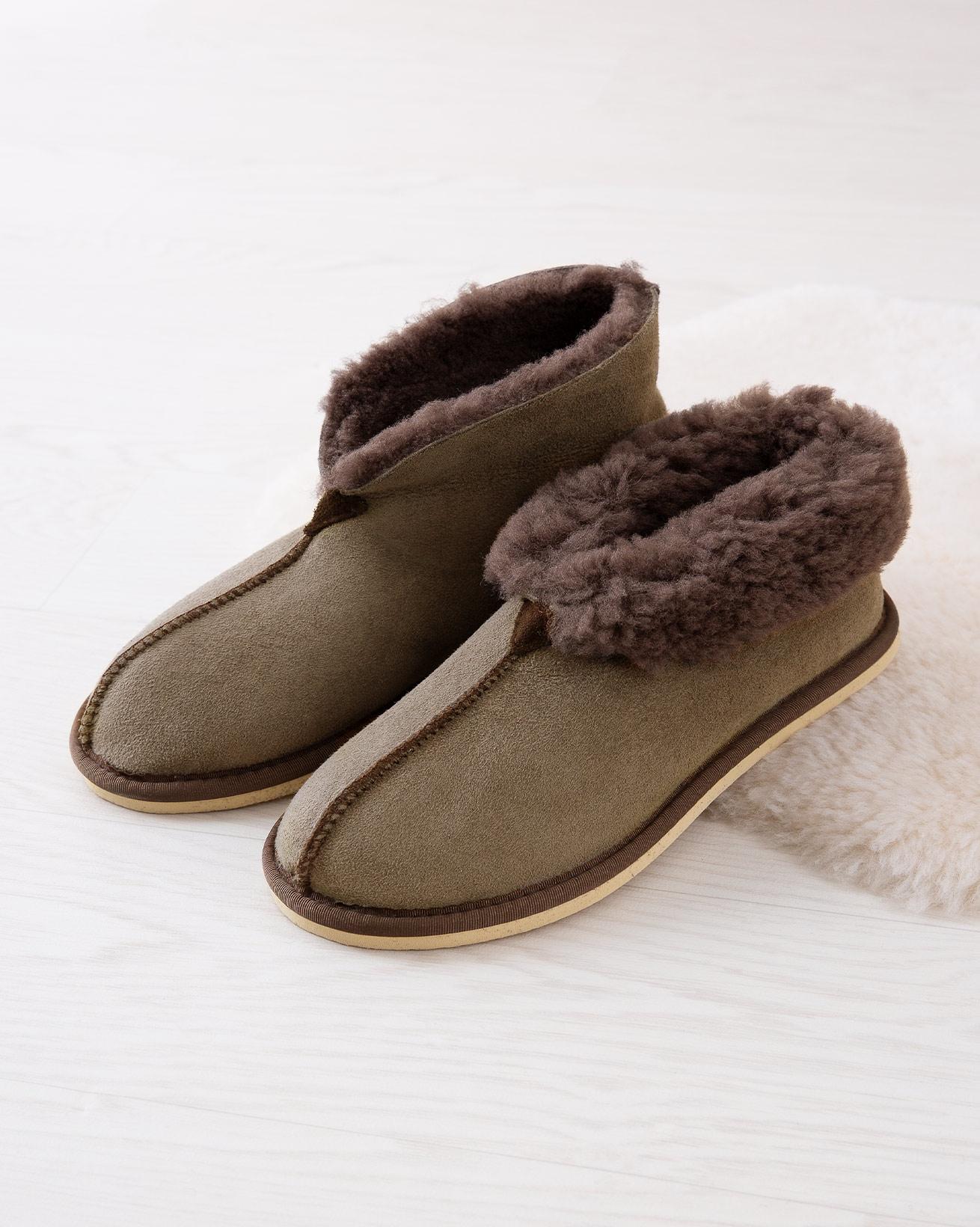Ladies Sheepskin Bootee Slipper - Vole - Size 4 - 2487