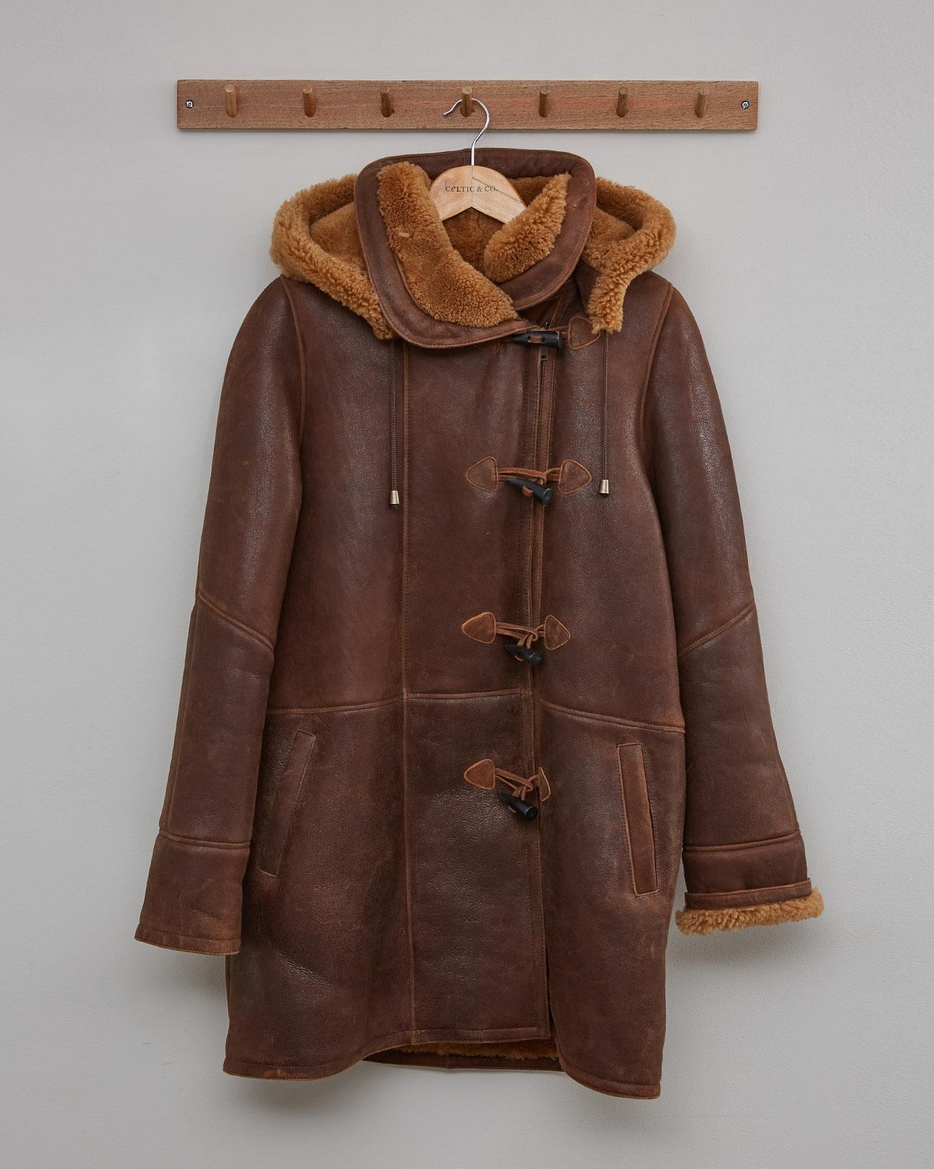 CELTIC DUFFLE COAT - AUTUMN BROWN, GINGER - Size 10 - 2552