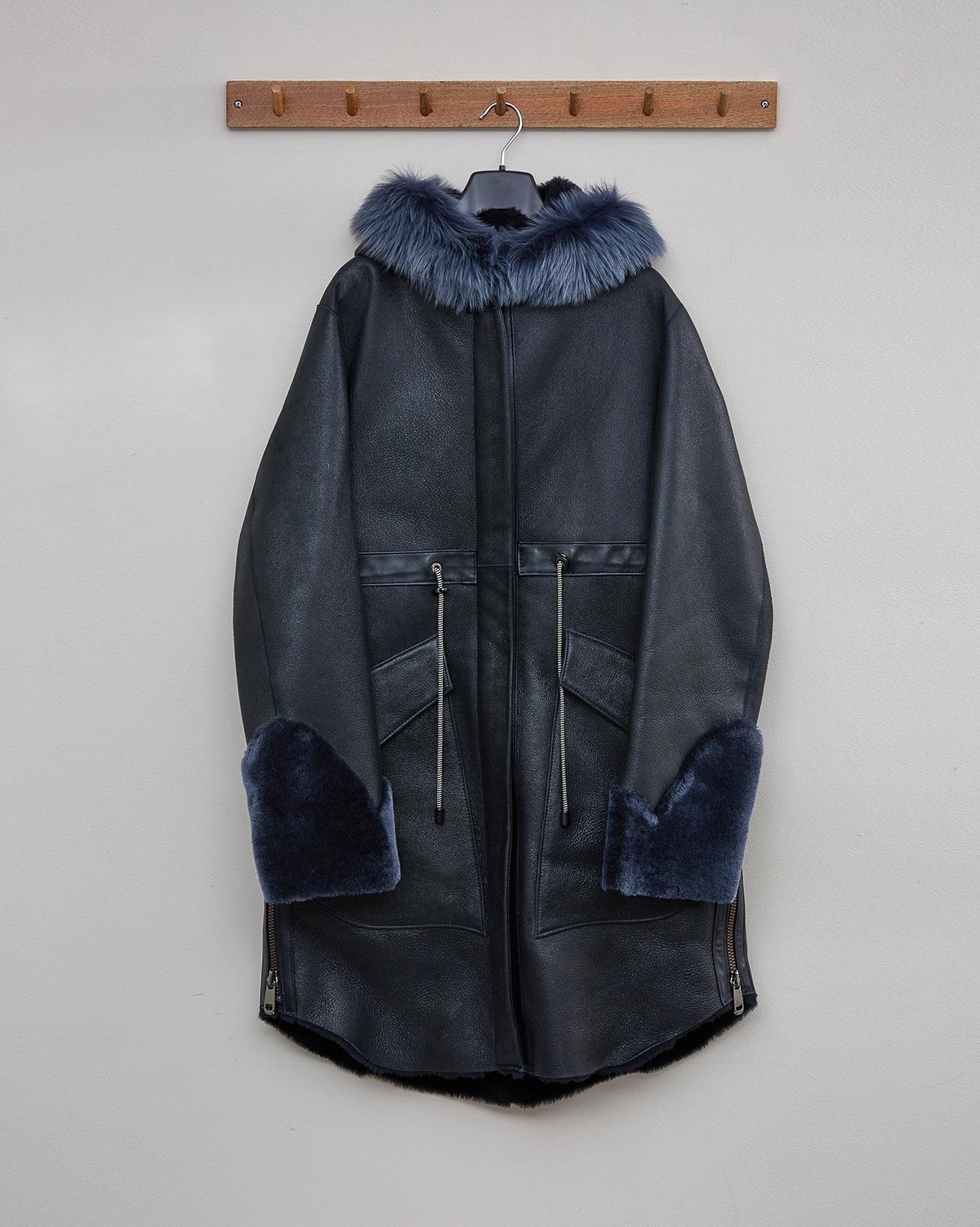 HOODED PARK COAT - DARK NAVY - Size 10 - 2555
