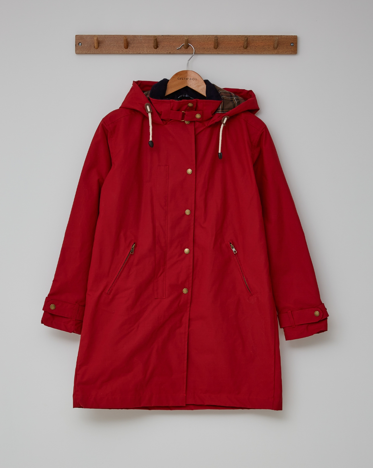 EASY CARE WAX COTTON PARKA - PILLARBOX RED - SIZE 10 - 2704