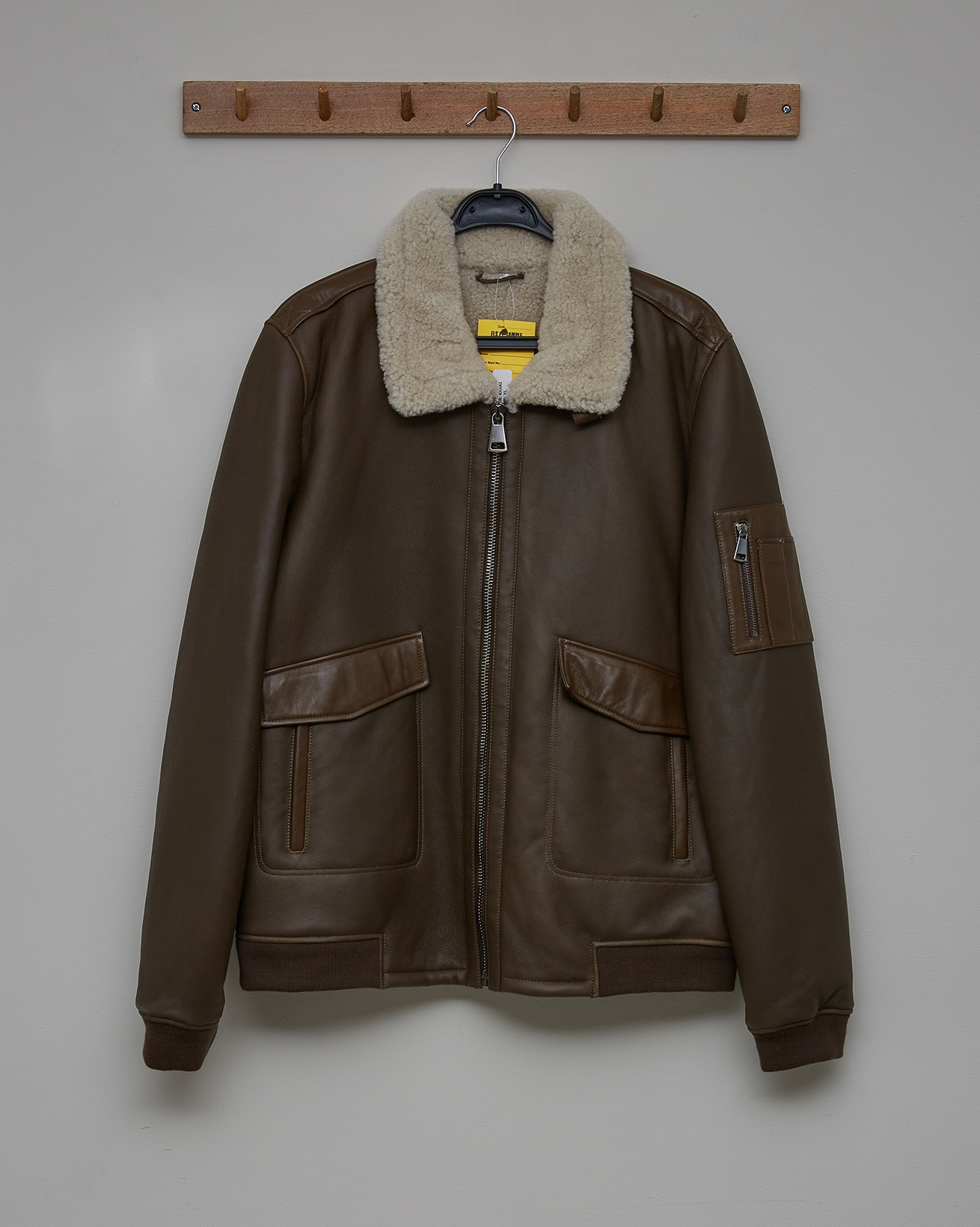 Men's Sheepskin Maverick Jacket - Tanners Brown - Size XL - 2707