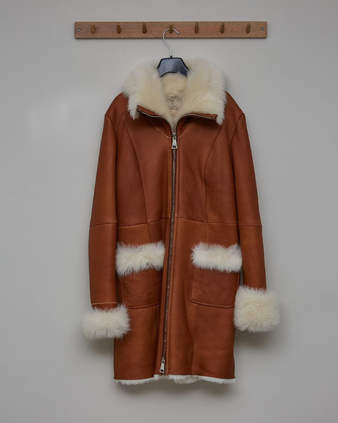 Toscana Trim Zip Up Coat - Honey - Size 10 - 2708
