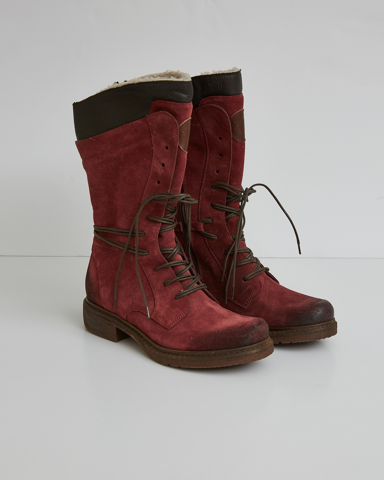 Woodsman Boots - Berry Red - Size 37 - 2759