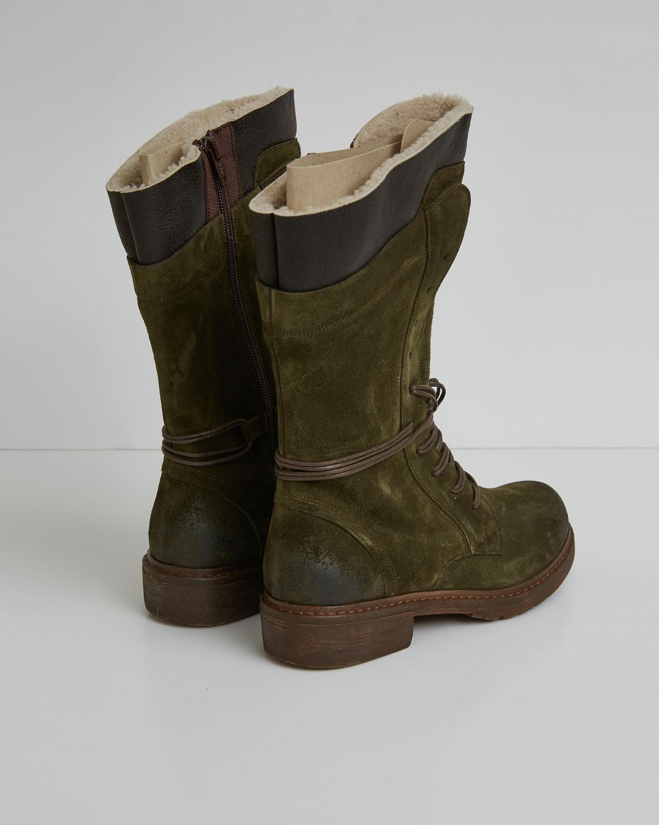 2758-woodsman boots - olive geen - size 37 - back.jpg