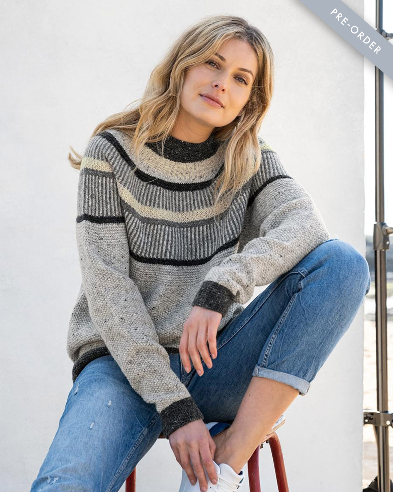 Statement-Pullover aus Donegal-Wolle