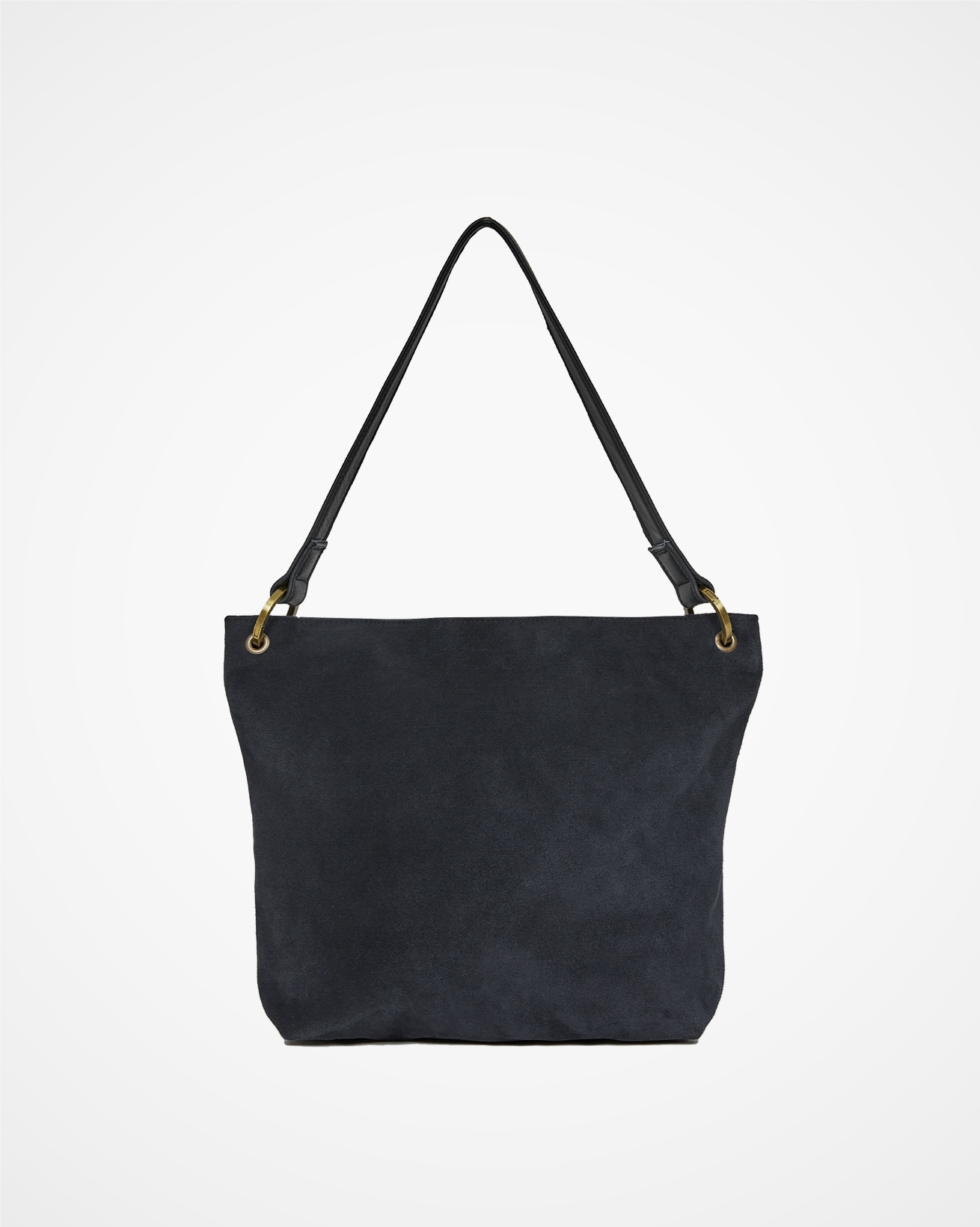 Leather & Suede Slouch Tote Bag