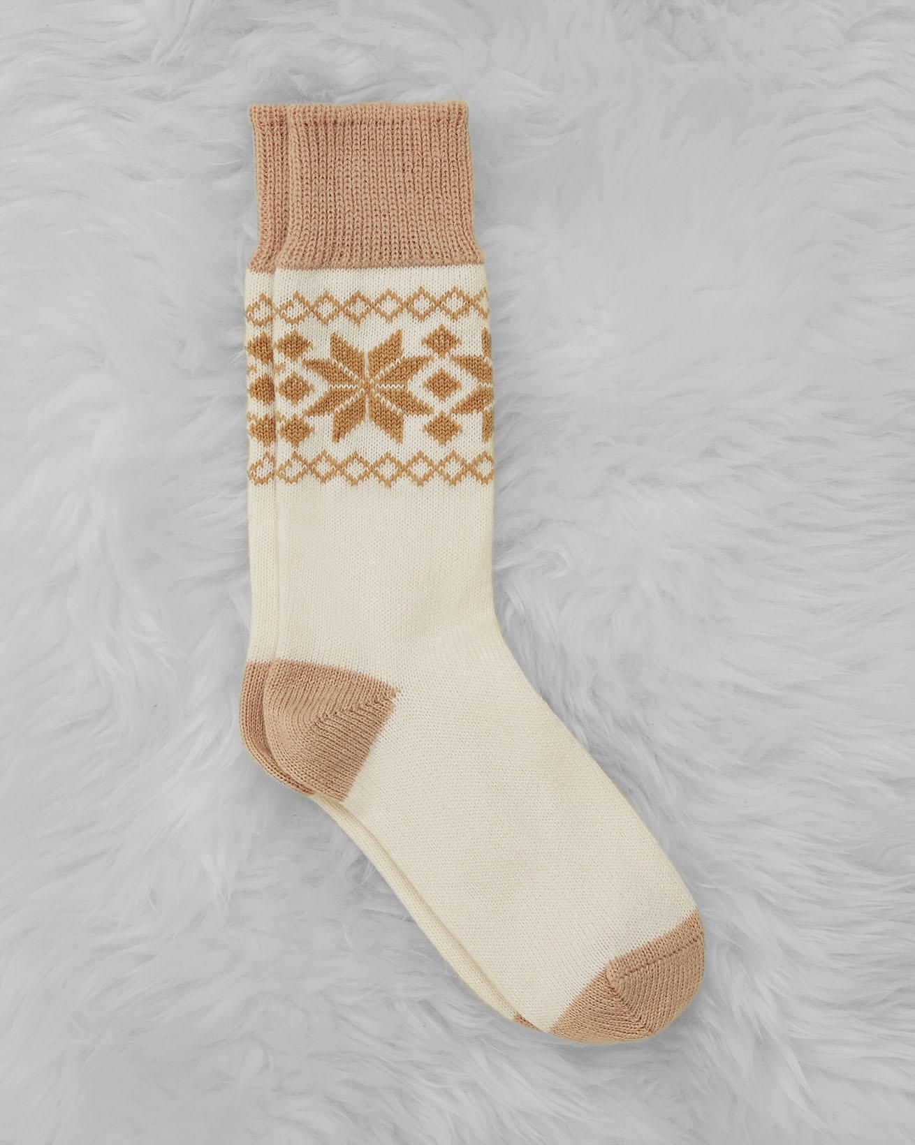 Ladies' Cashmere Cotton Fair Isle Socks