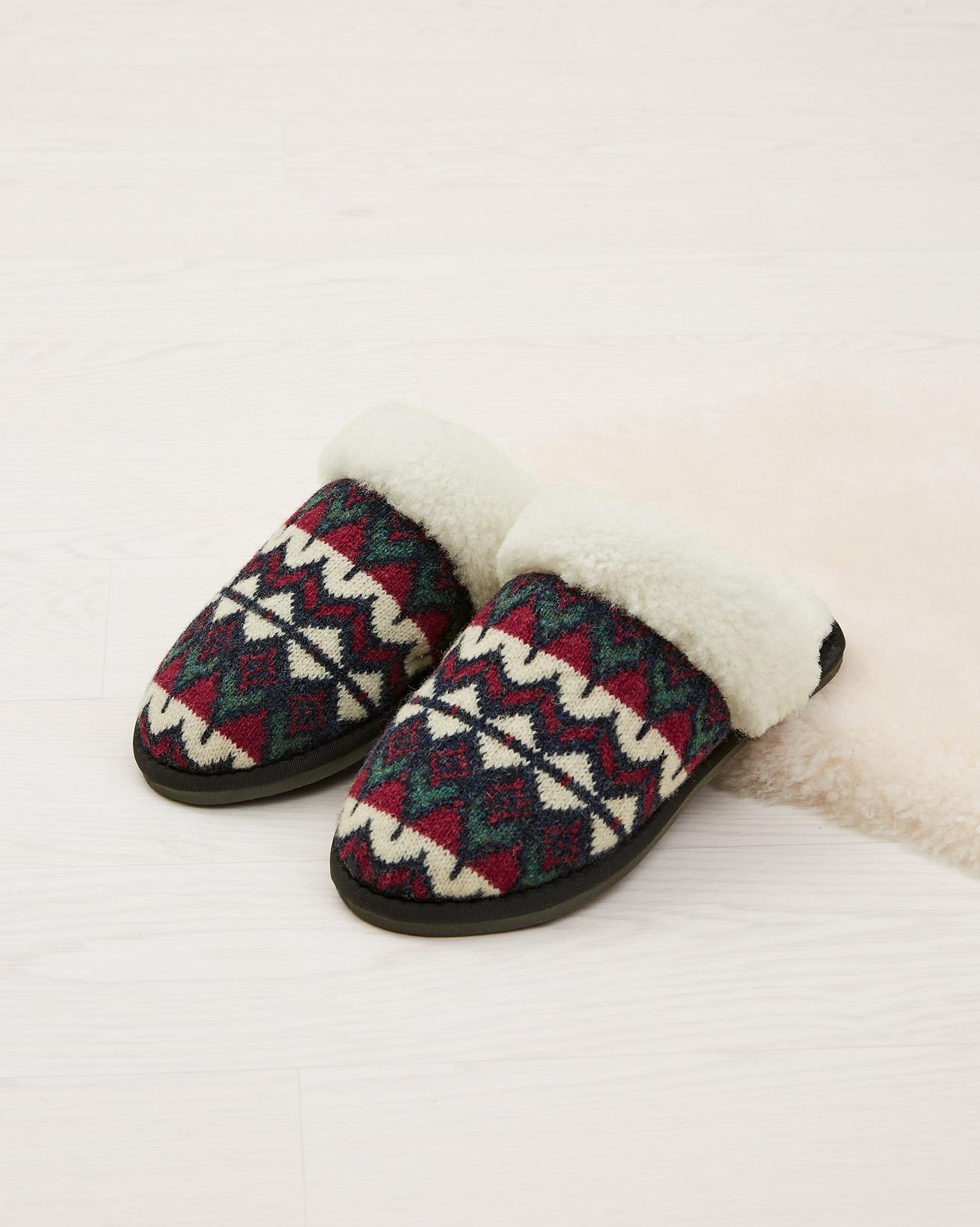 Fair Isle Knitted Mules
