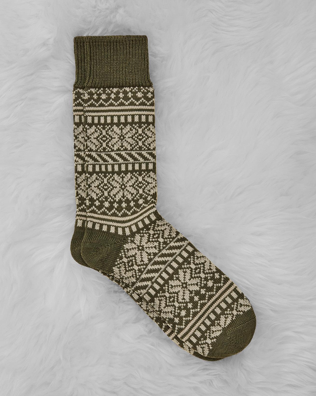 Men's Merino Cotton Fair Isle Sock