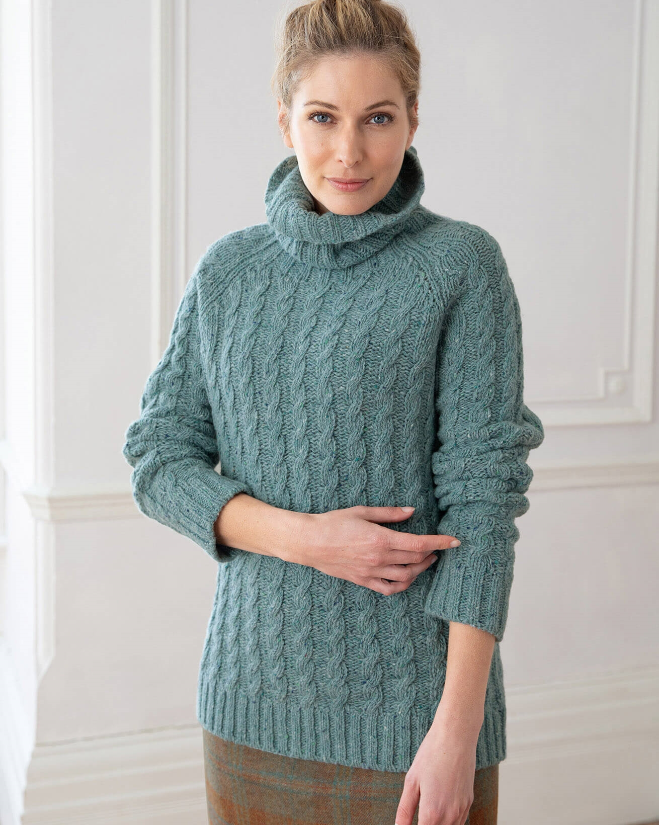 Donegal Cable Turtleneck