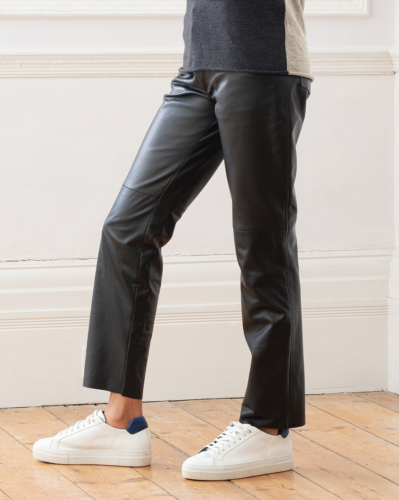 Leather Cigarette Pants