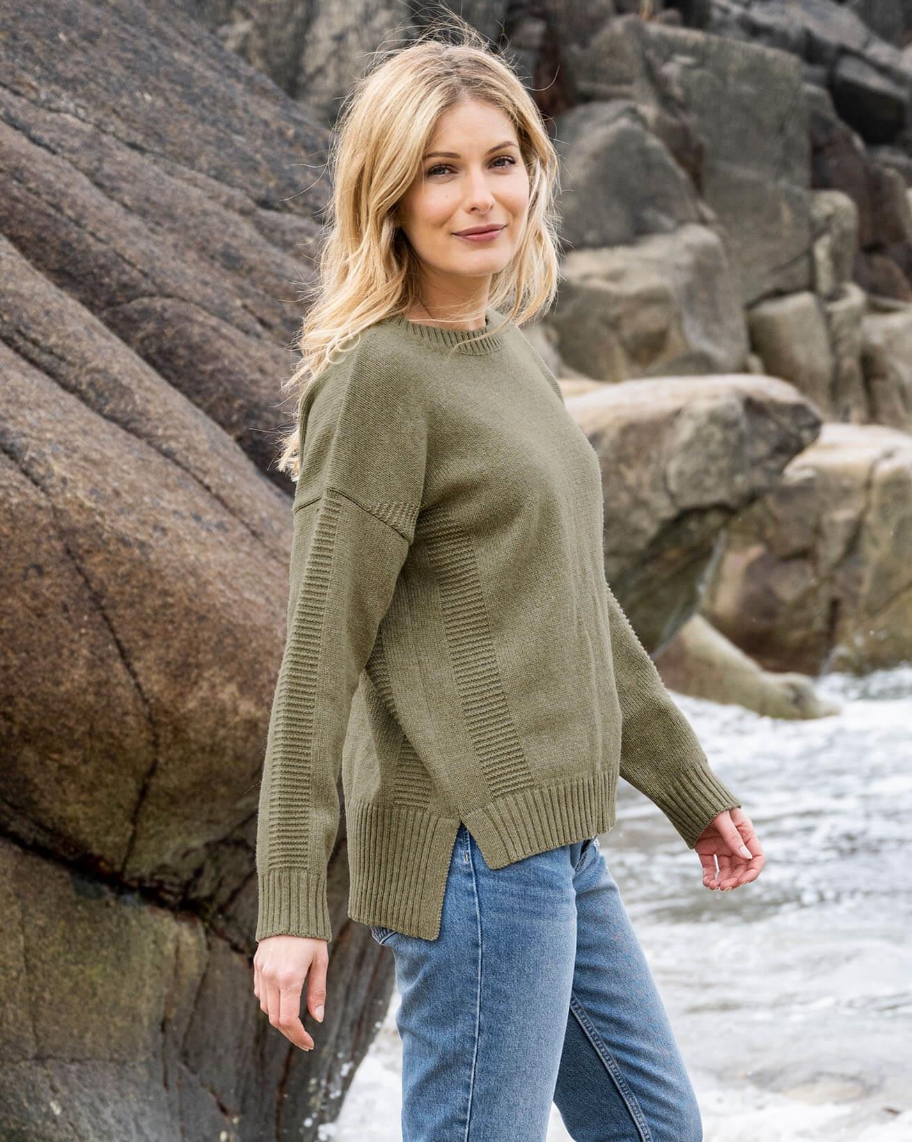 Gansey Stitch Sweater
