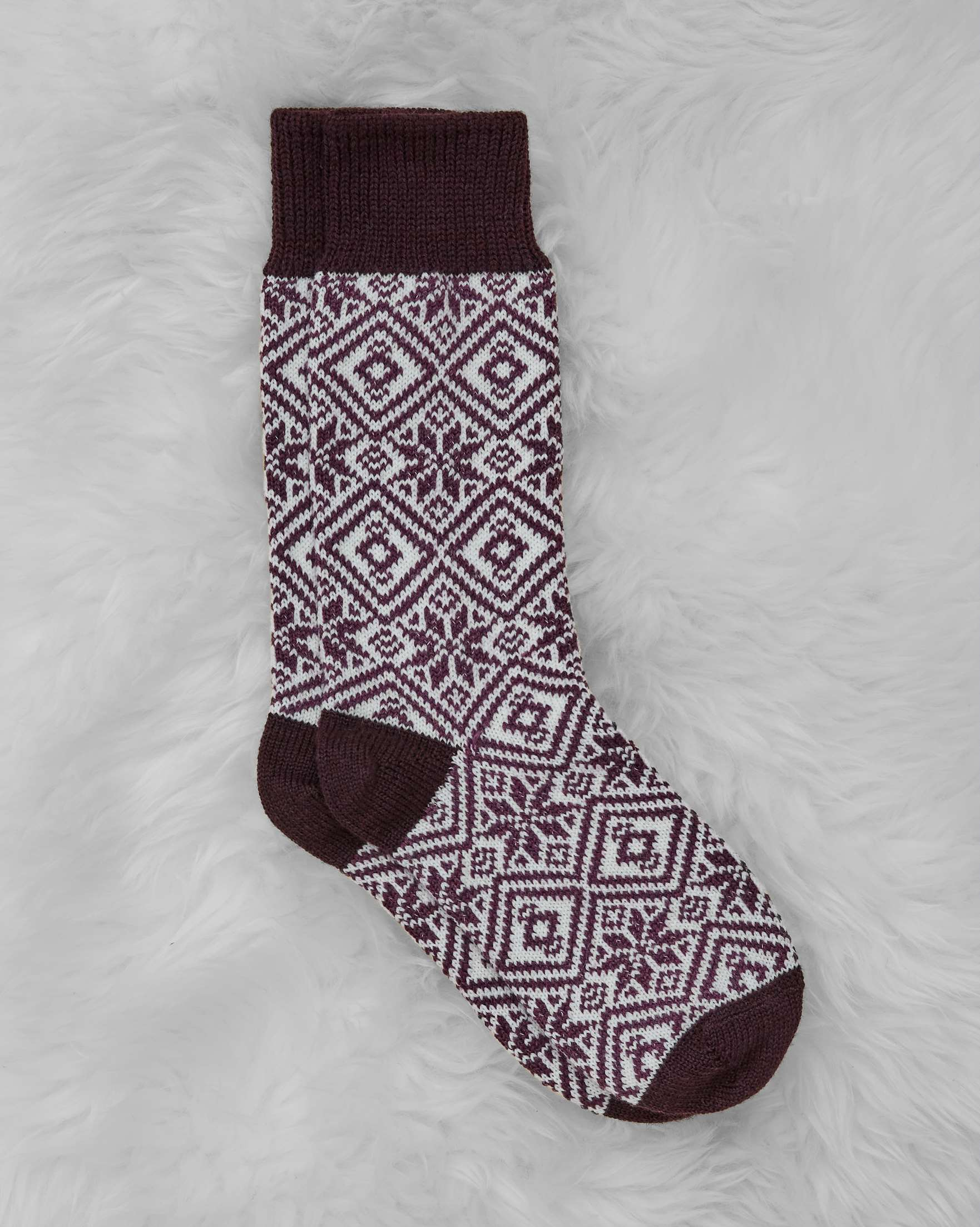 Ladies Fairisle Merino Cotton Sock