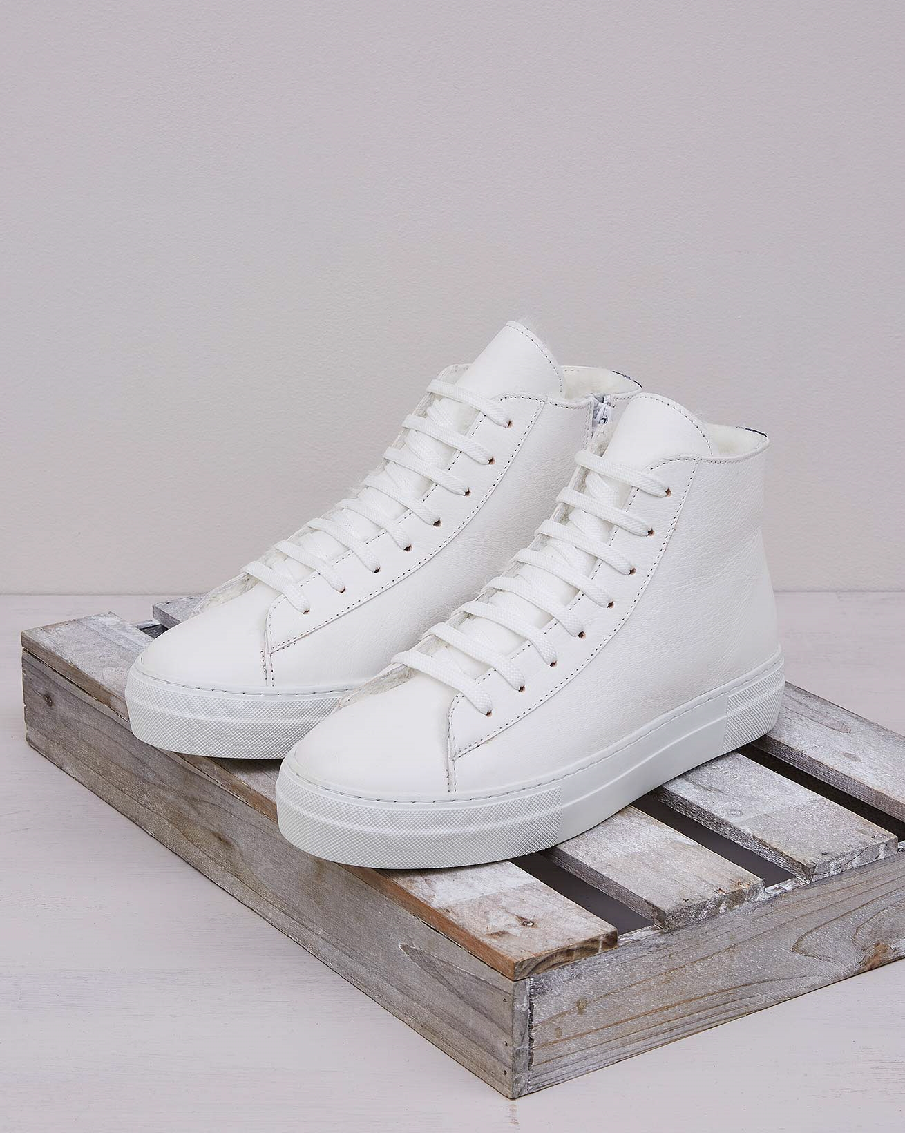 Shearling Lined High Top Sneaker
