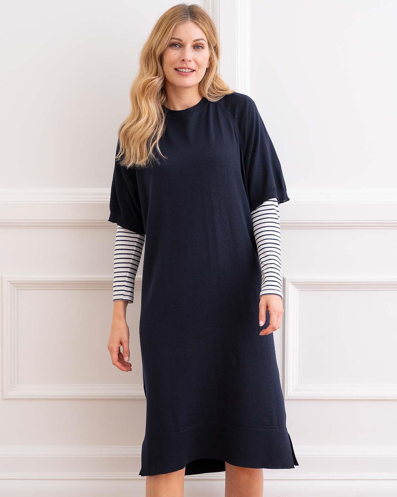 Merino Short Sleeve Midi Dress