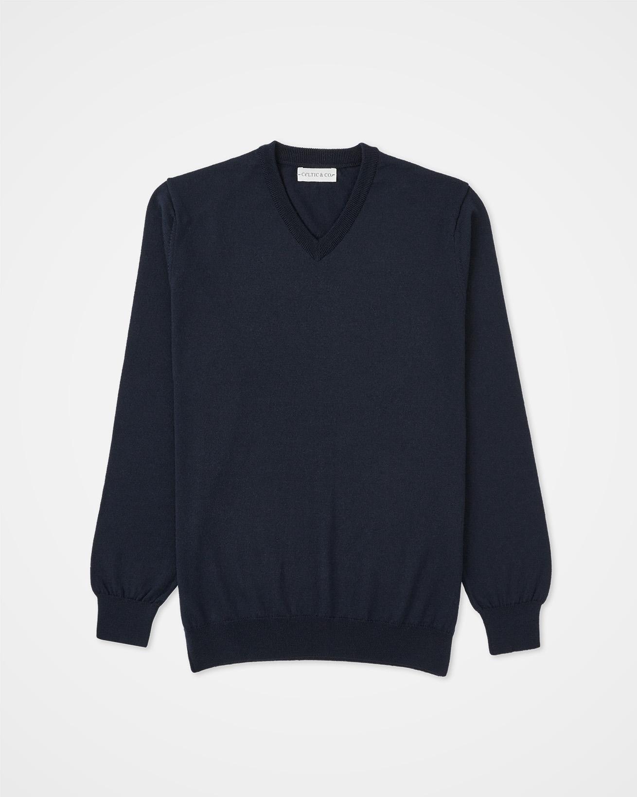 Men's Fine Knit V Sweater