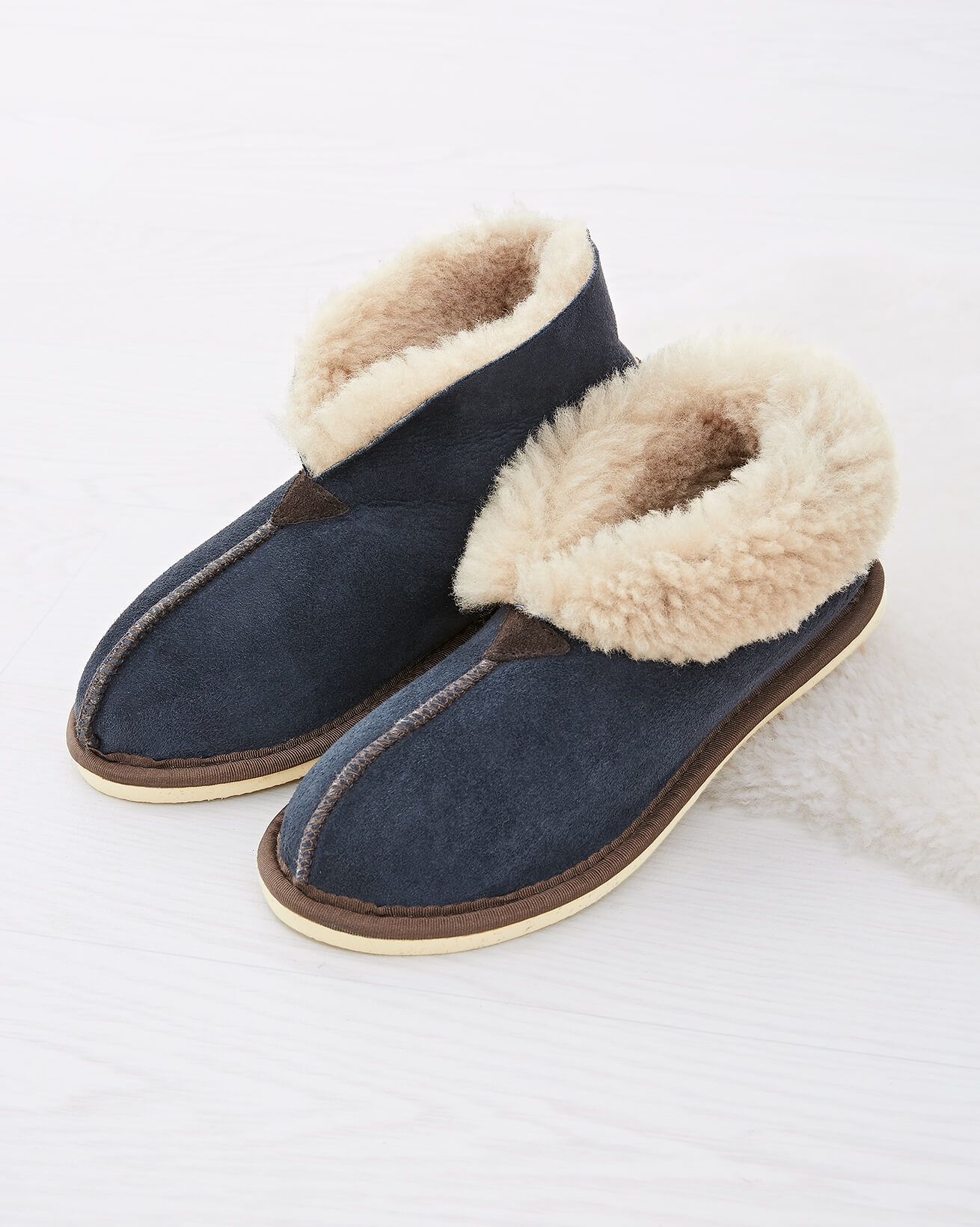 Ladies Shearling Bootee Slippers