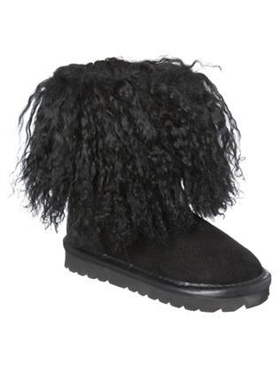 Kids Mongolian Boots - Size 5-6 - Black 529