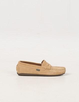 6588 - Suede Mocassin Shoe - Pale Tan - Outside.jpg