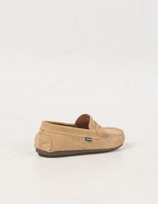 6588 - Suede Mocassin Shoe - Pale Tan - Back.jpg
