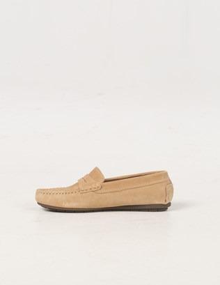 6588 - Suede Mocassin Shoe - Pale Tan - Inside.jpg