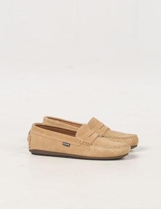 6588 - Suede Mocassin Shoe - Pale Tan - Pair.jpg